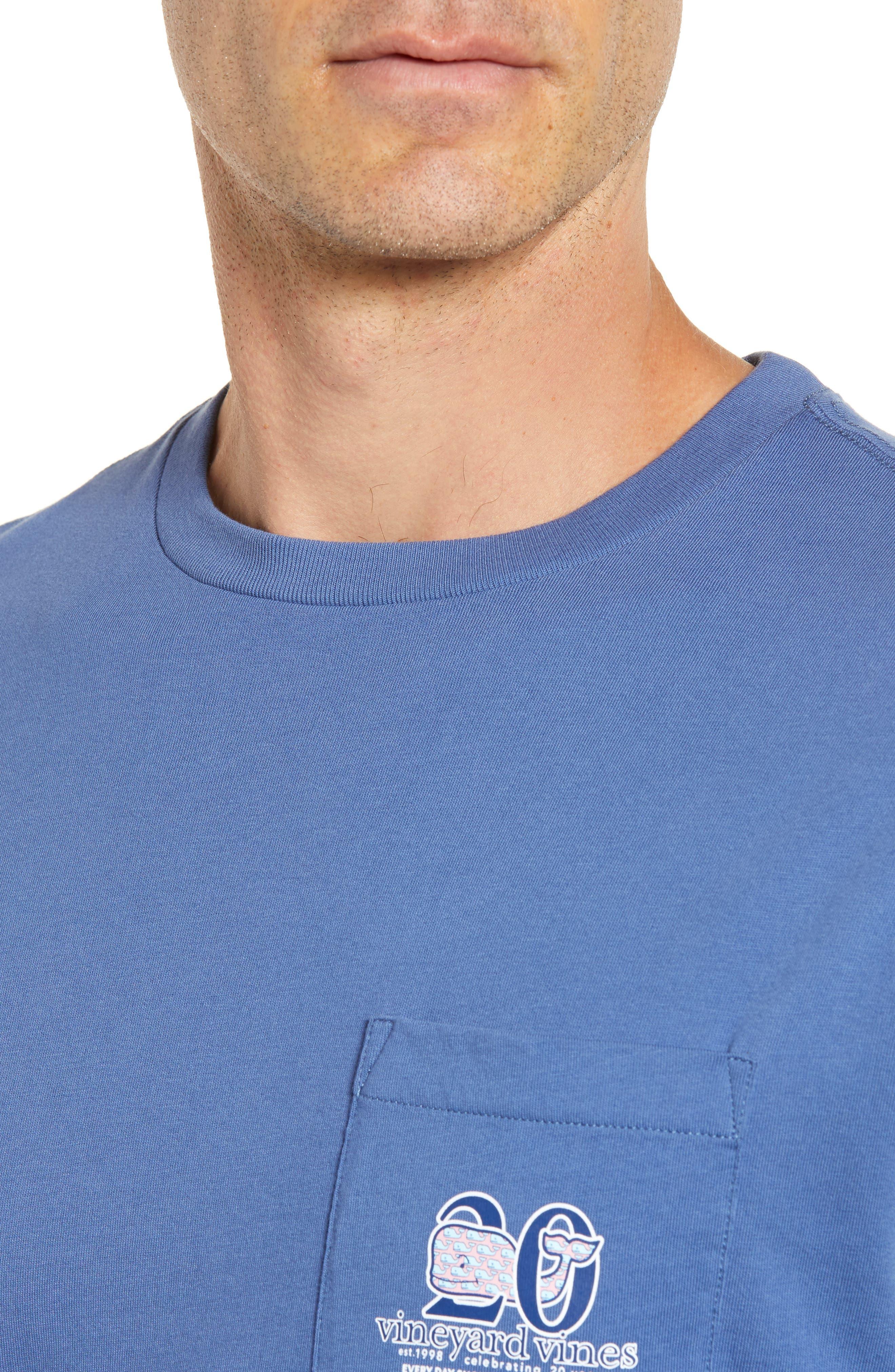 Patchwork Whale Pocket T-Shirt,                             Alternate thumbnail 4, color,                             Moonshine