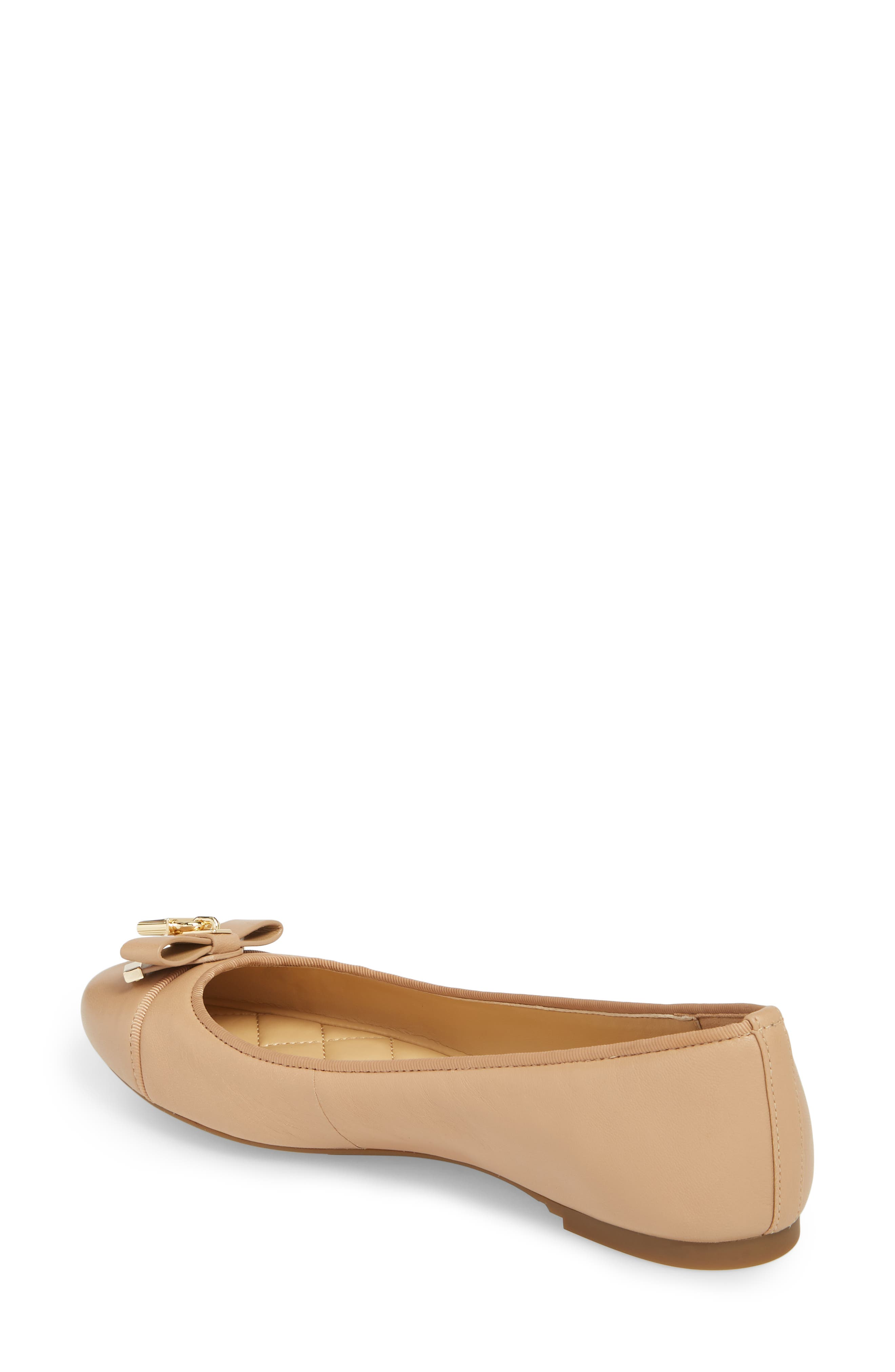 Alice Ballet Flat,                             Alternate thumbnail 2, color,                             Toffee Leather