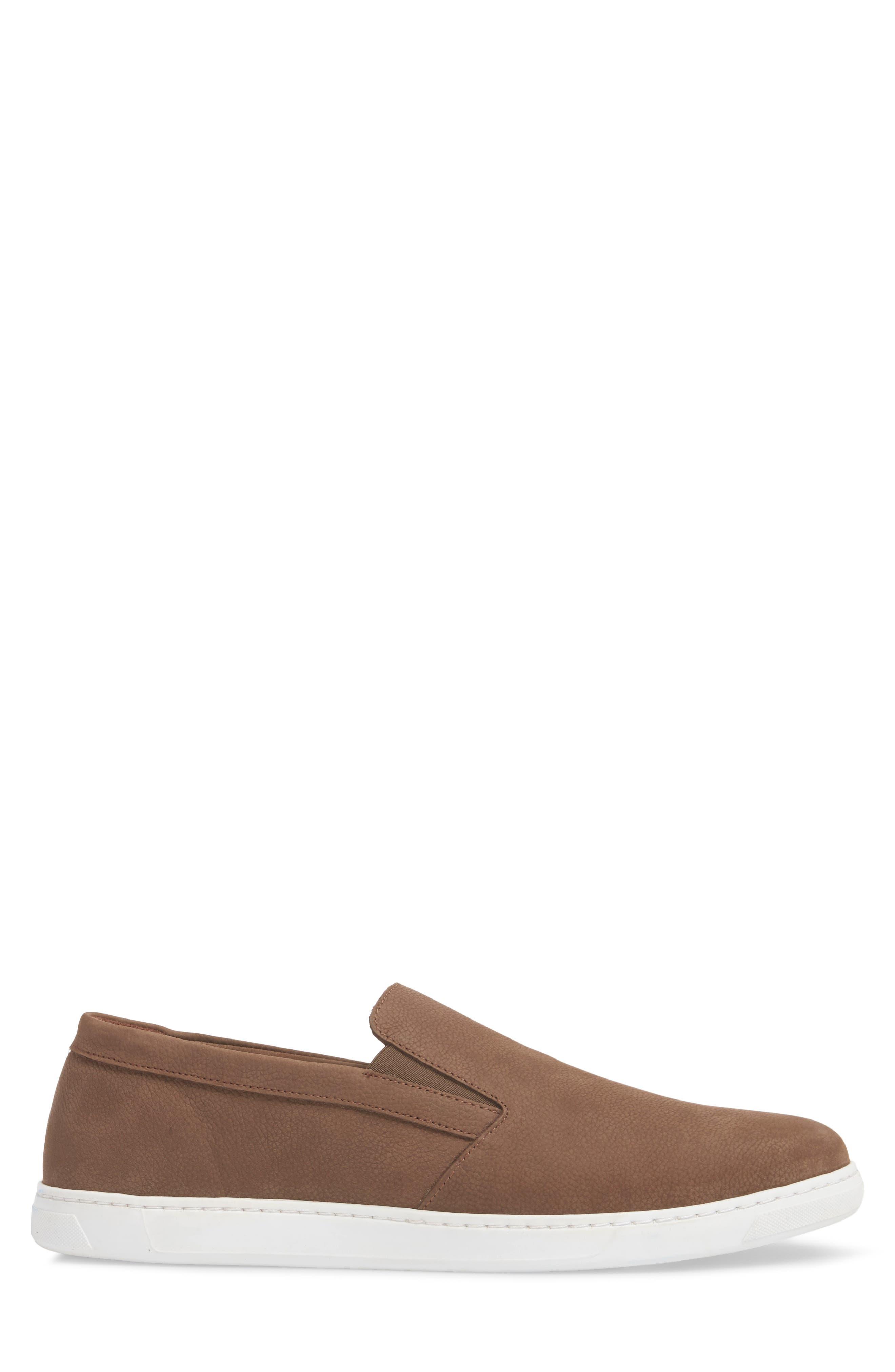 Neff Slip-On Sneaker,                             Alternate thumbnail 3, color,                             Taupe Leather