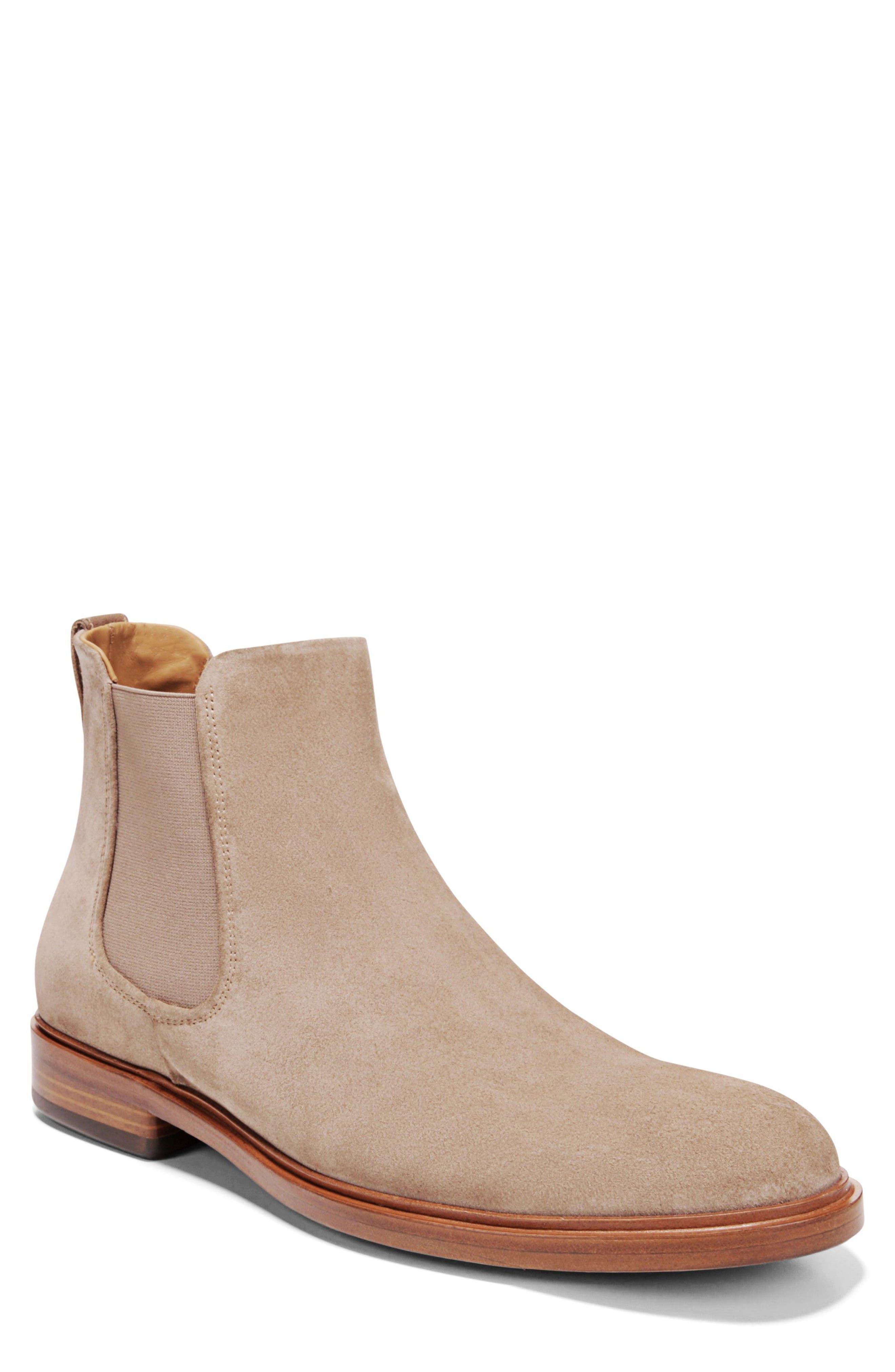 Burroughs Chelsea Boot,                         Main,                         color, Flint