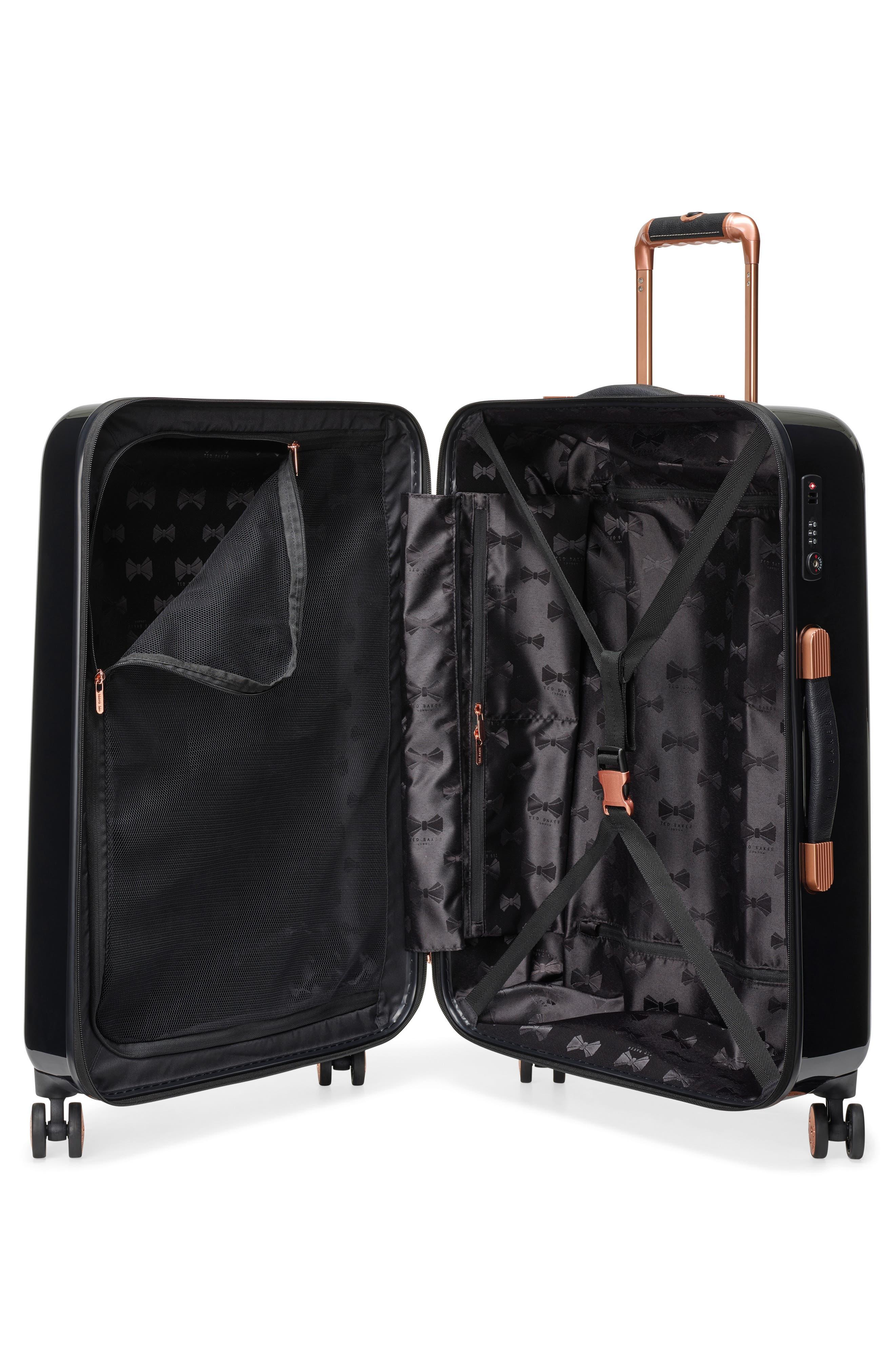 Medium Versailles 27-Inch Hard Shell Spinner Suitcase,                             Alternate thumbnail 2, color,                             Black