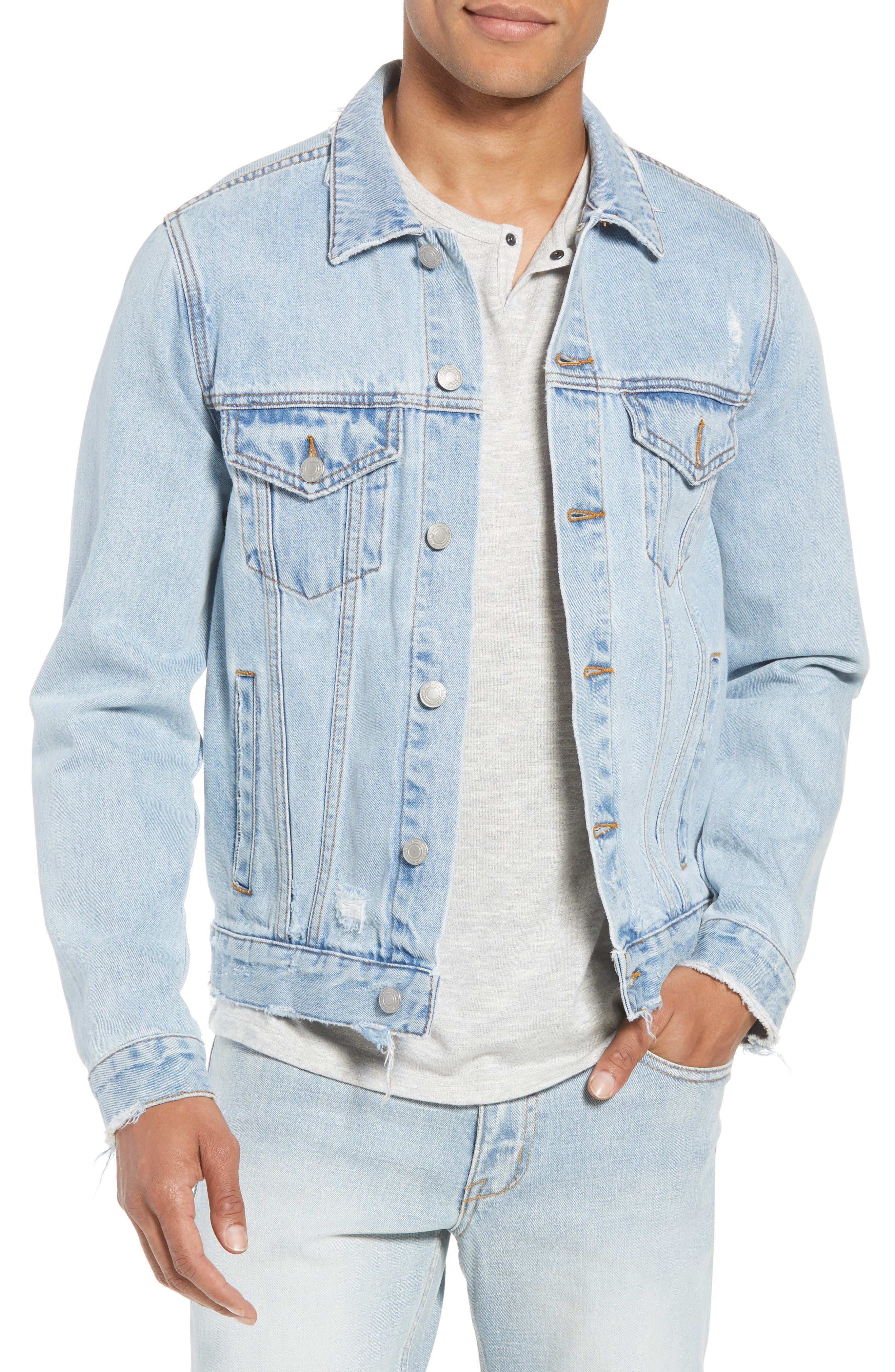 Type One Denim Jacket,                         Main,                         color, Beaten Indigo