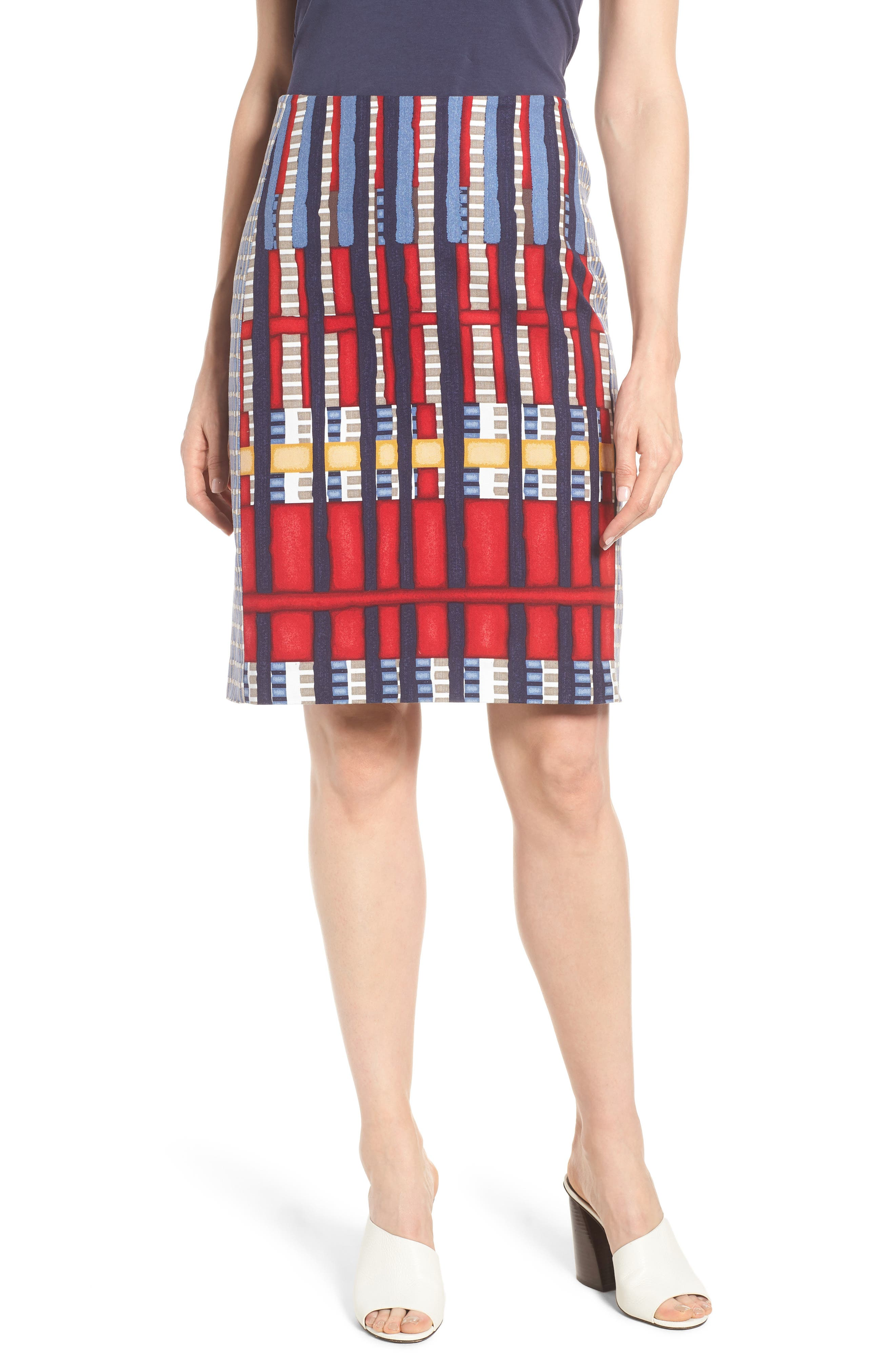Santiago Hills Block Skirt,                             Main thumbnail 1, color,                             Multi
