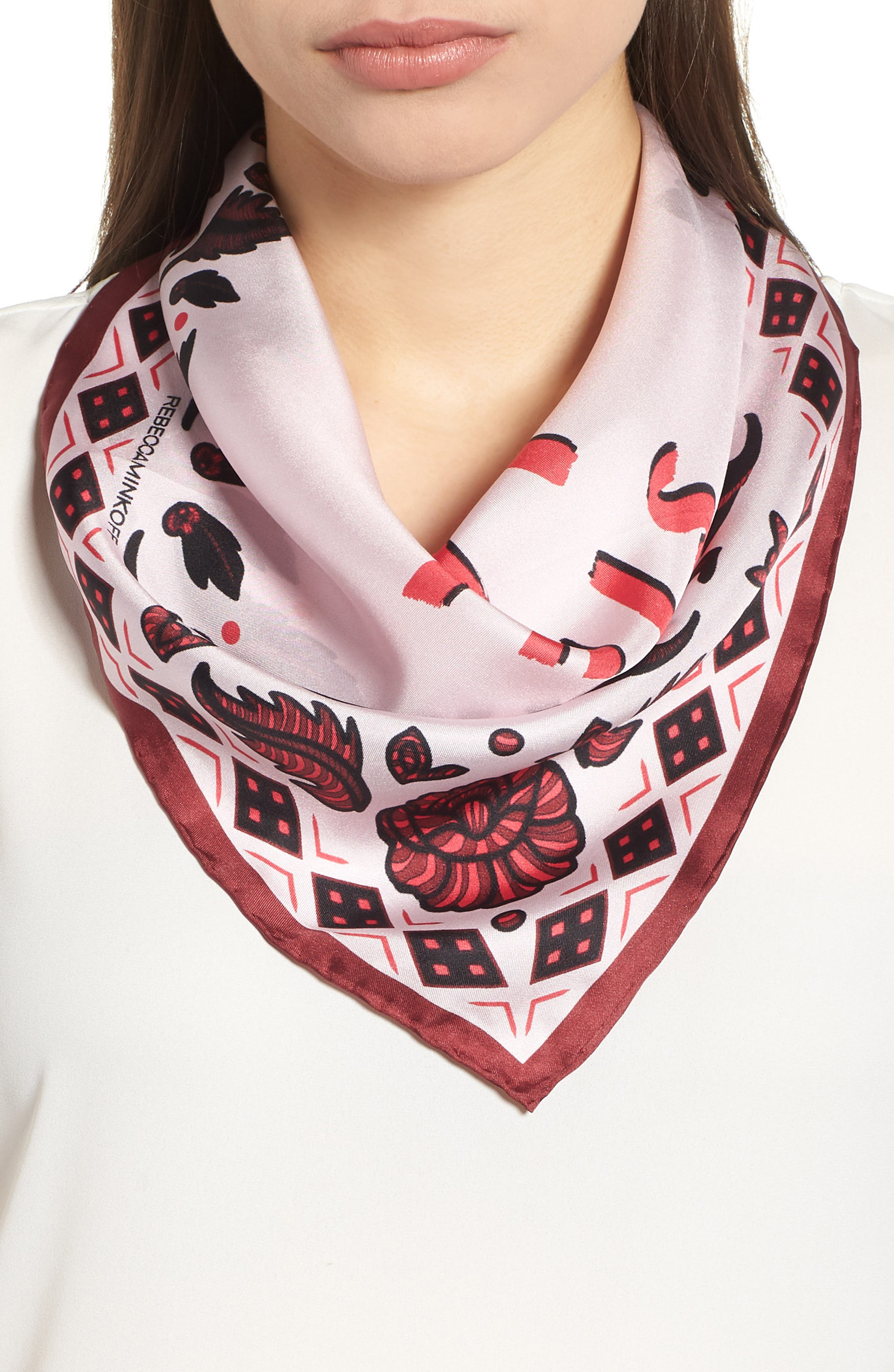 We Got This Silk Bandana,                             Main thumbnail 1, color,                             Pink