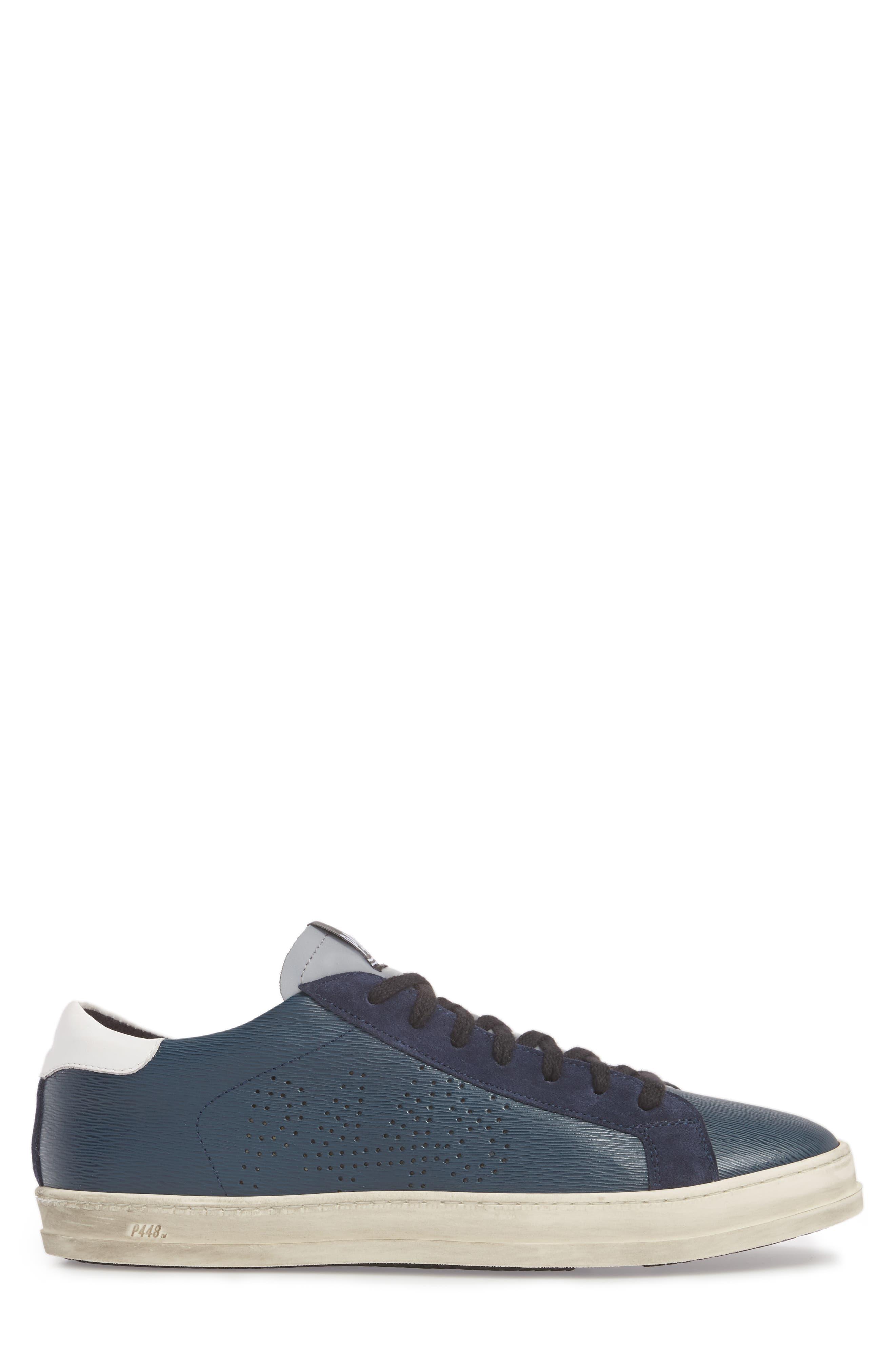 John Low Top Sneaker,                             Alternate thumbnail 3, color,                             Navy