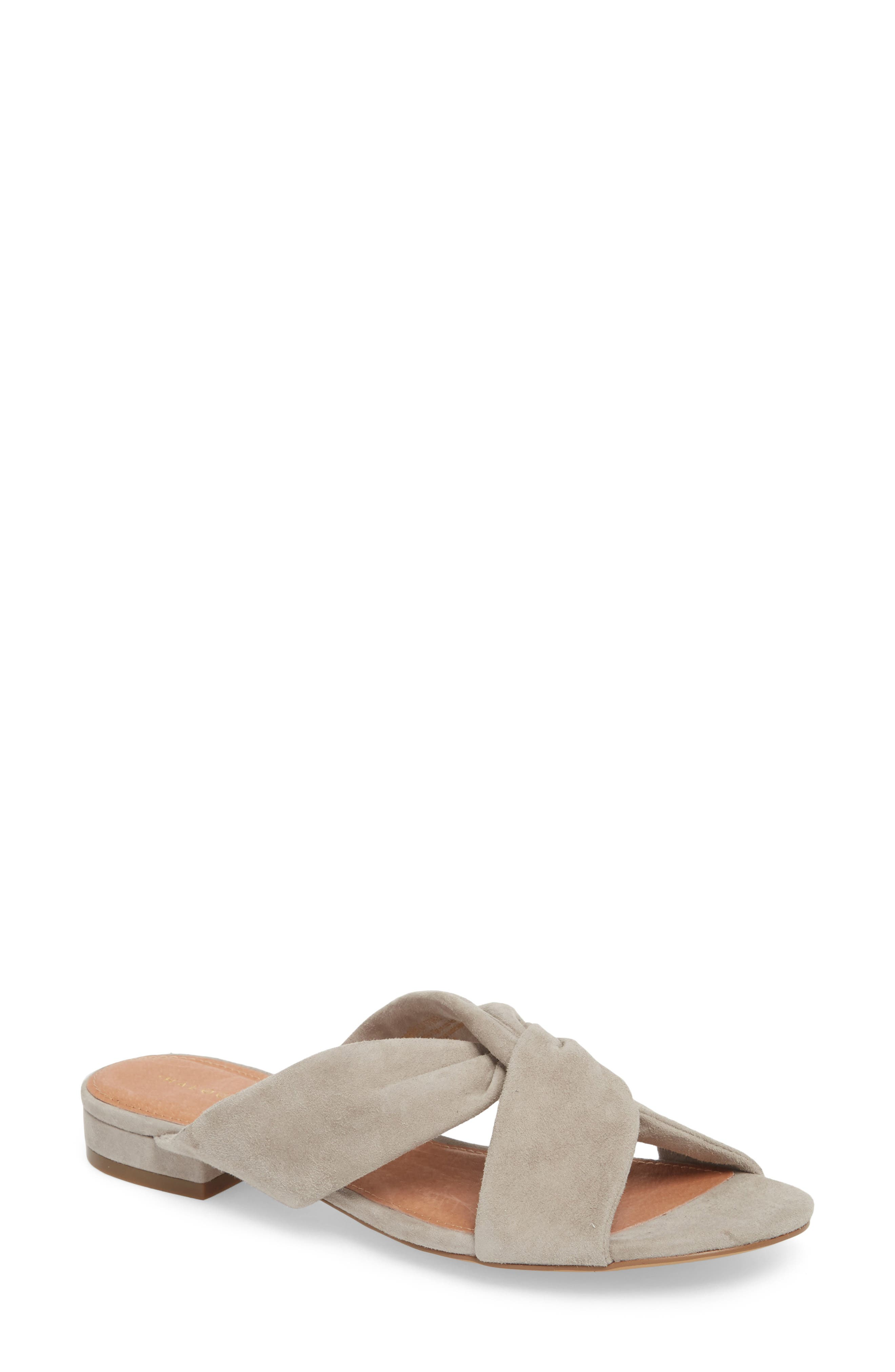 Andre Slide Sandal,                         Main,                         color, Grey Suede