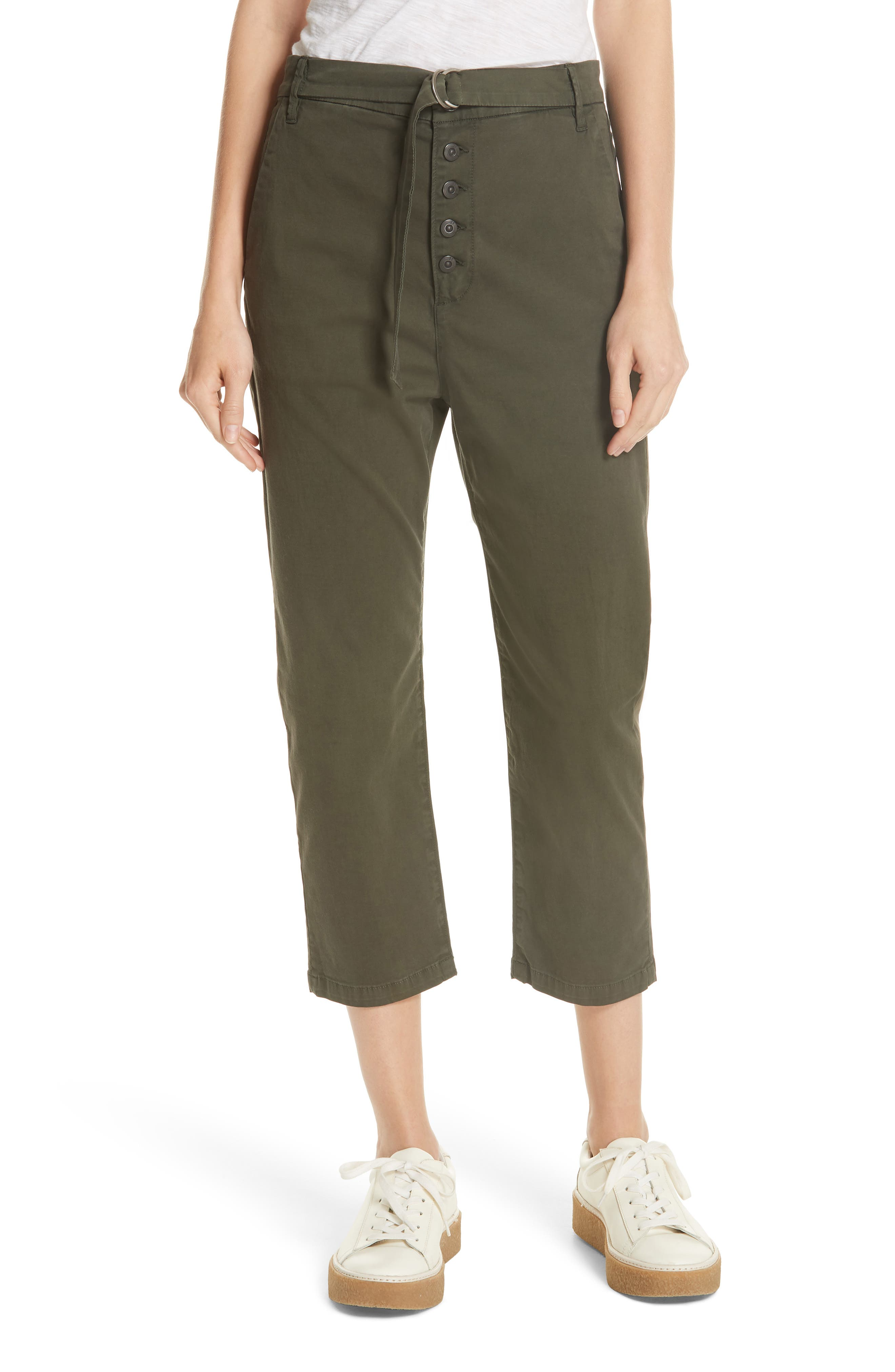 3X1 VIC BELTED CROP CHINOS