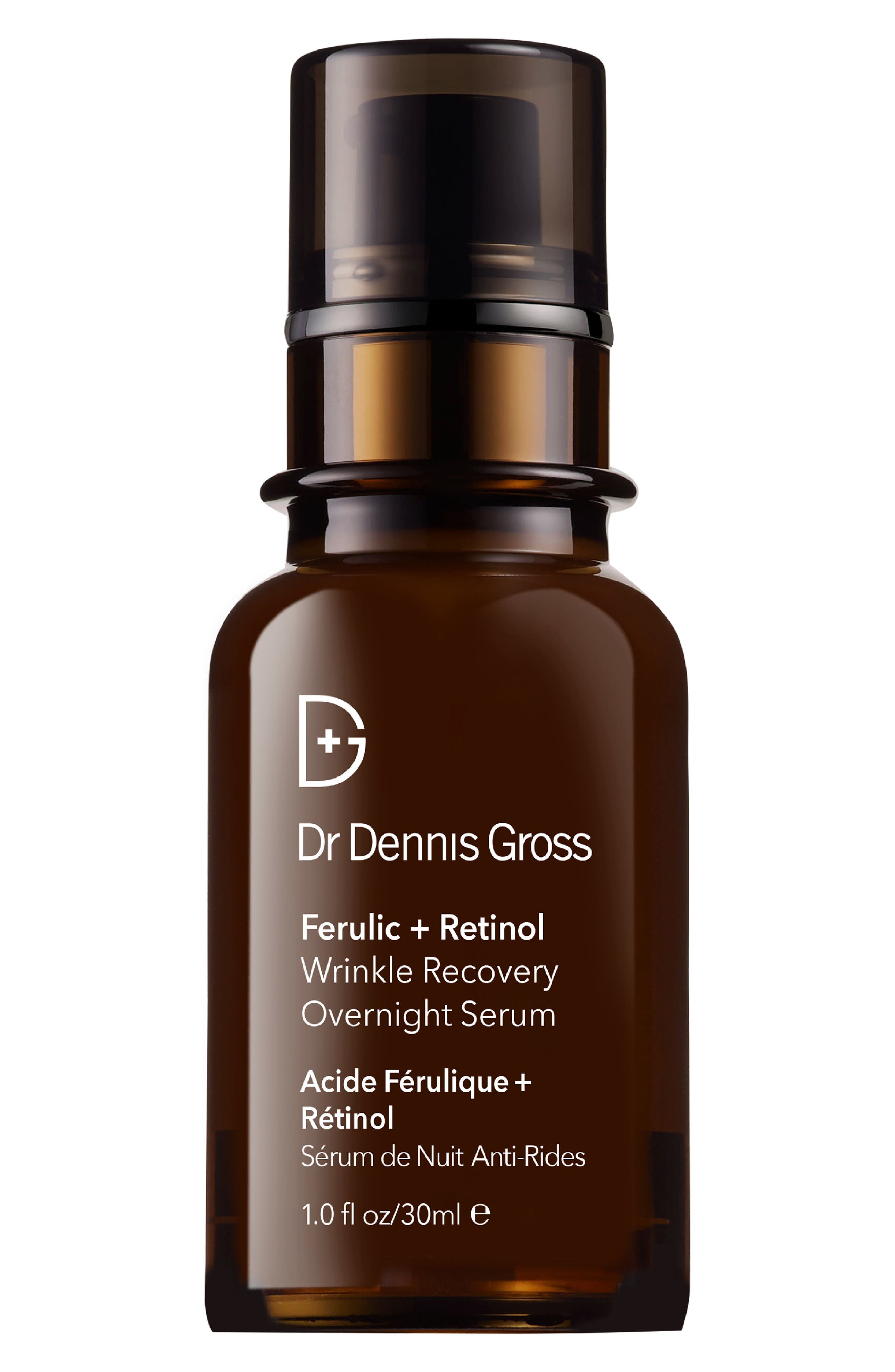 Ferulic + Retinol Wrinkle Recovery Overnight Serum,                             Main thumbnail 1, color,                             No Color