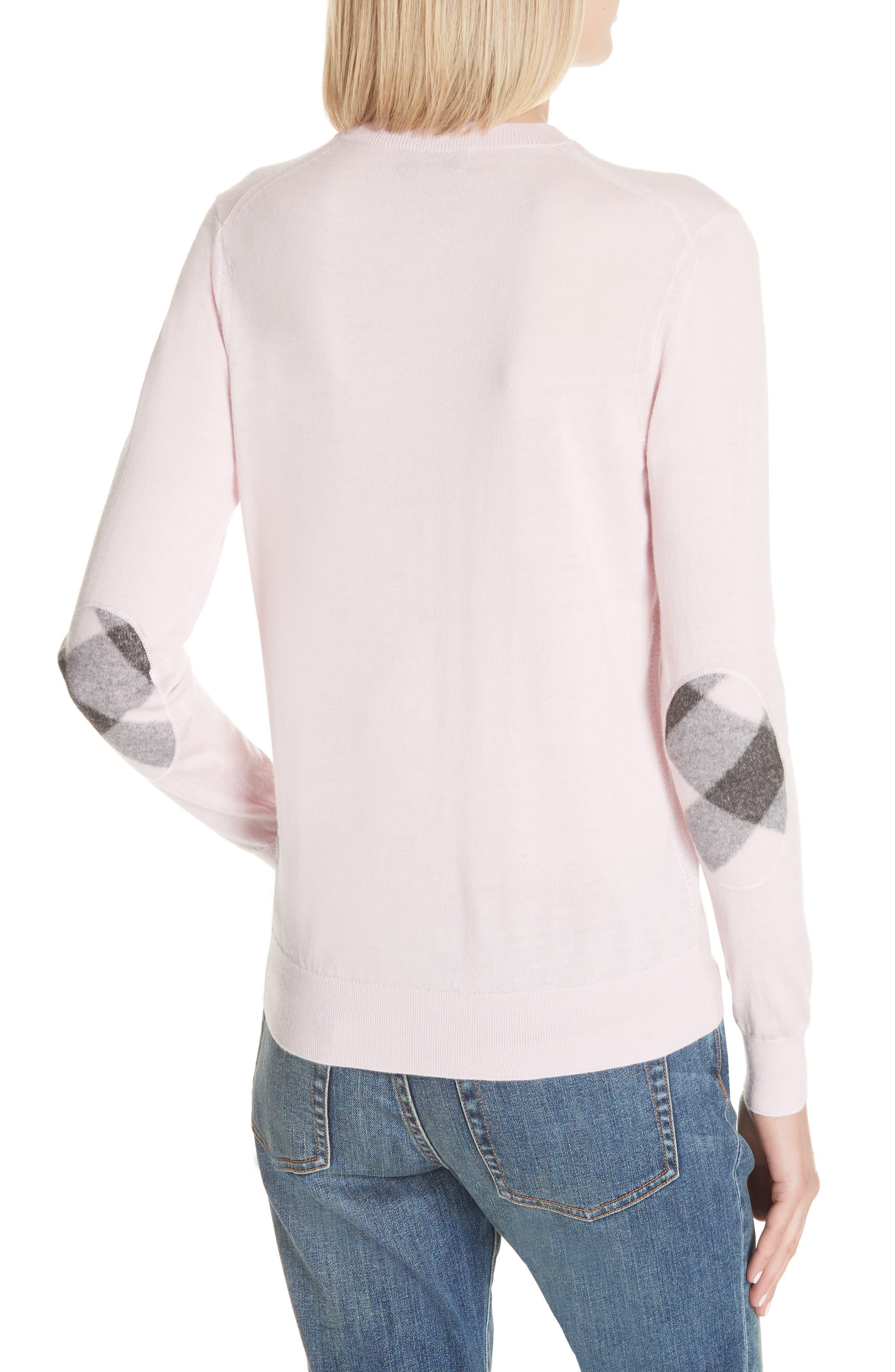 Viar Merino Wool Sweater,                             Alternate thumbnail 4, color,                             Light Pink