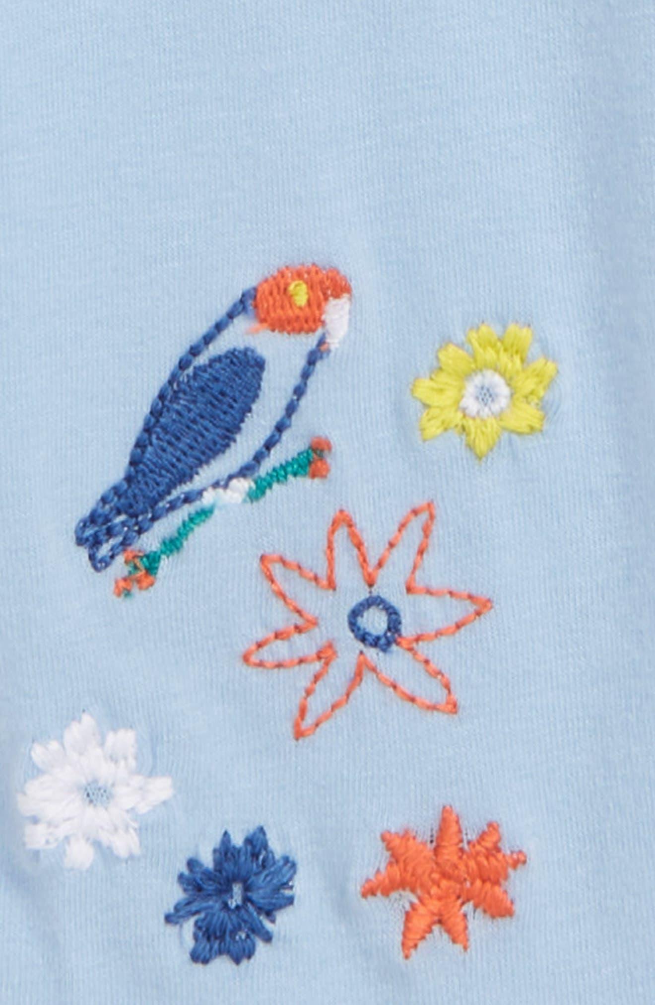Embroidered Leggings,                             Alternate thumbnail 2, color,                             Blue Thread