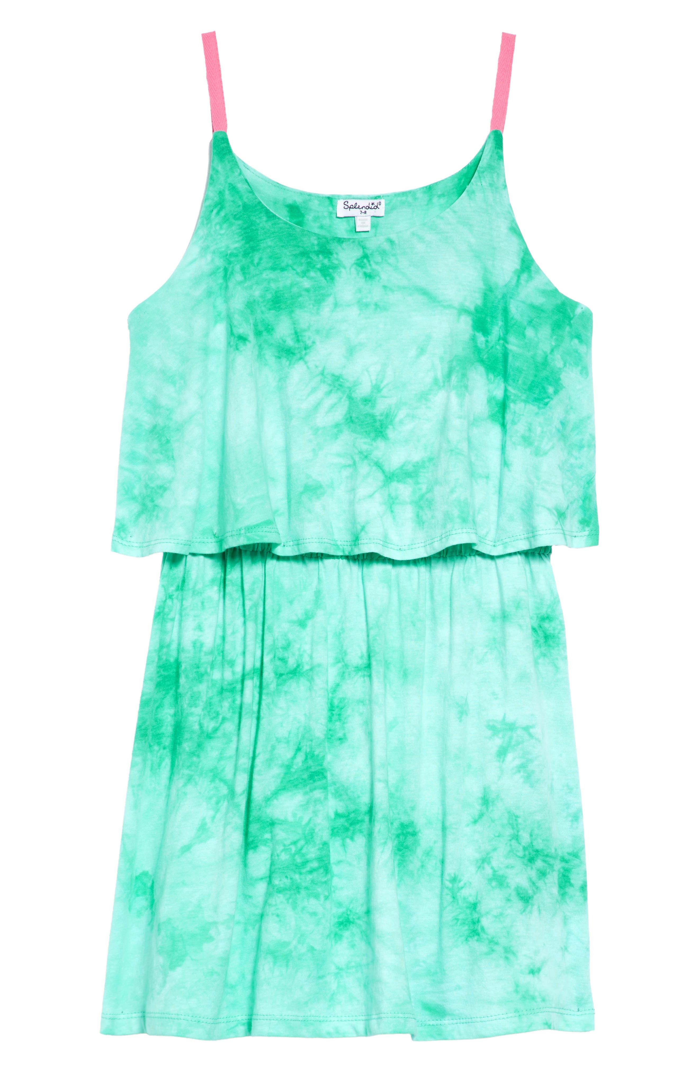 Splendid Tie Dye Popover Tank Dress (Big Girls)