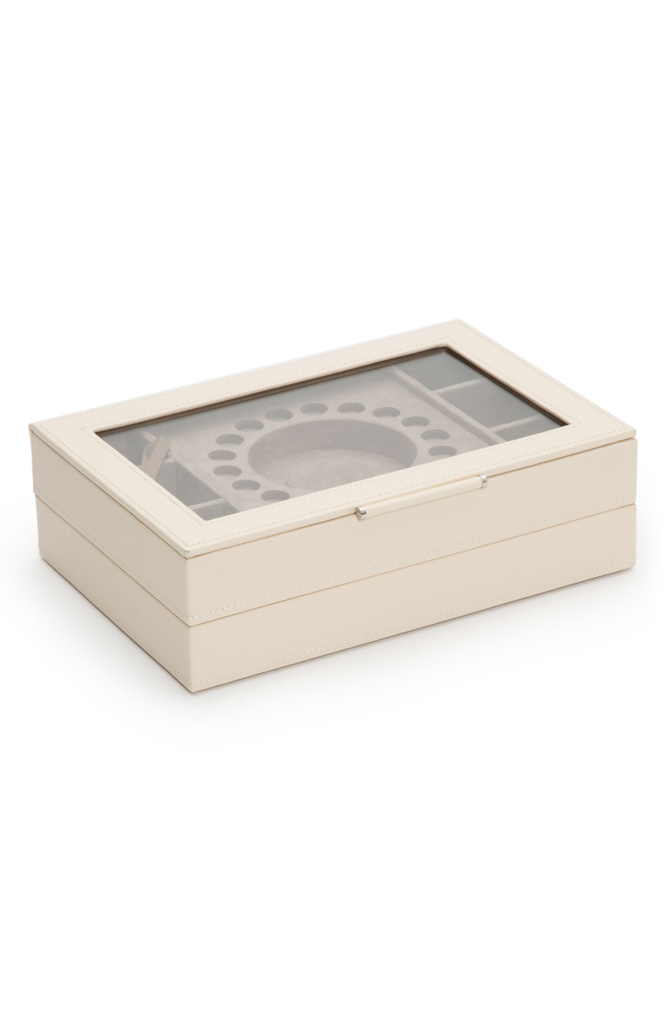 WOLF SOPHIA STACKABLE JEWELRY TRAY SET - IVORY
