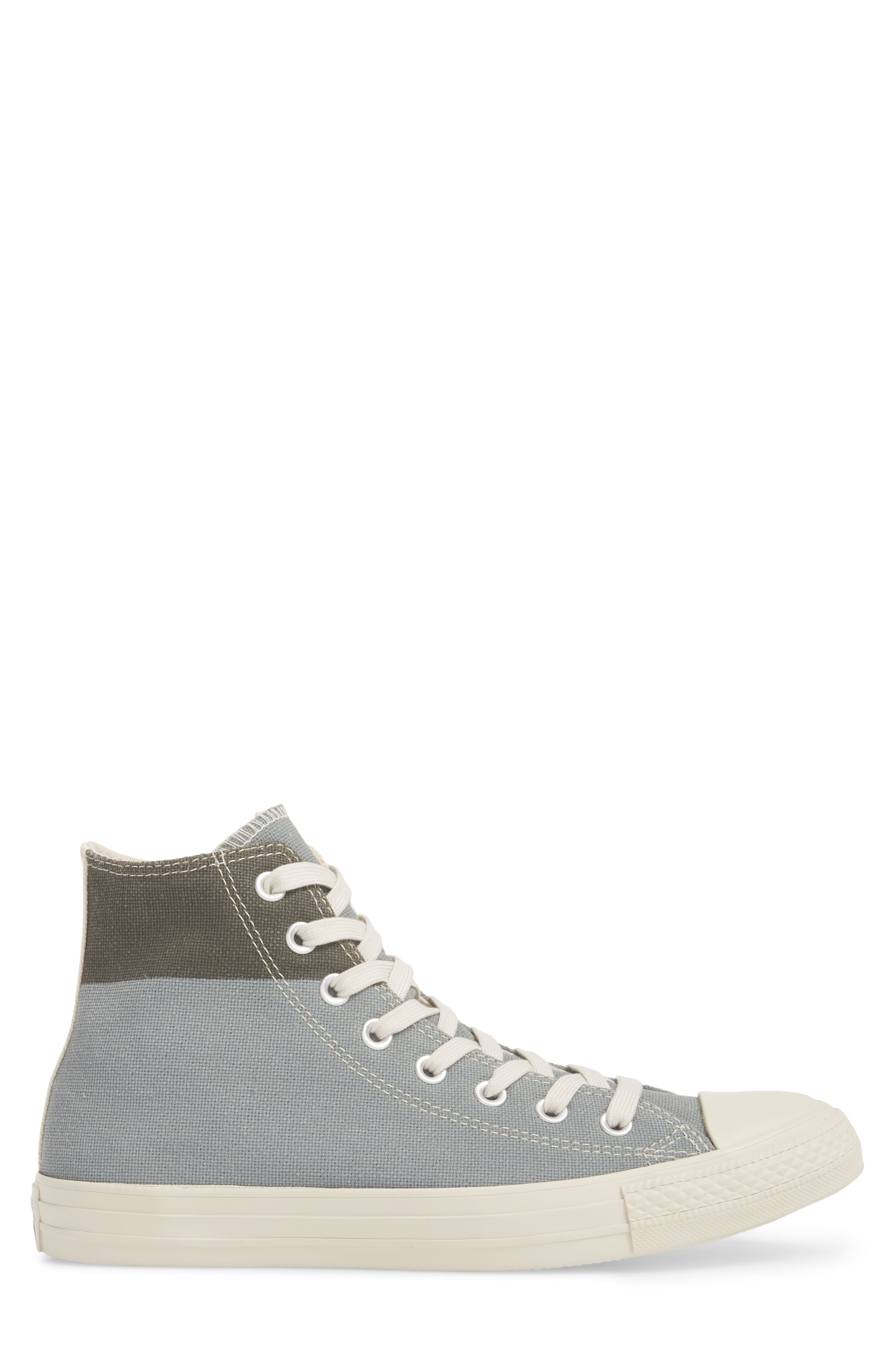 Chuck Taylor<sup>®</sup> All Star<sup>®</sup> Jute Americana High Top Sneaker,                             Alternate thumbnail 3, color,                             Cool Grey