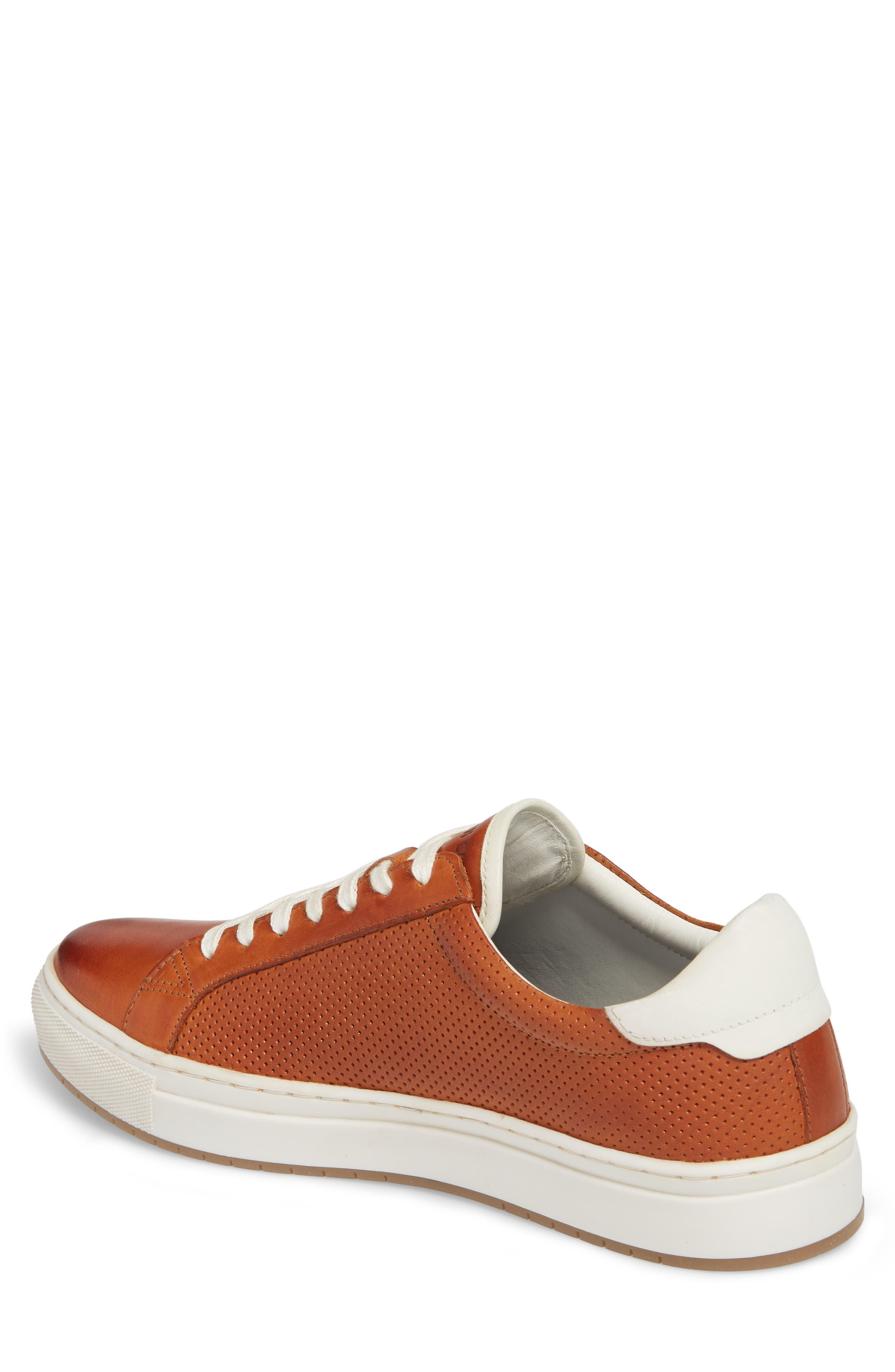 Don Embossed Lace-Up Sneaker,                             Alternate thumbnail 2, color,                             Cognac Leather