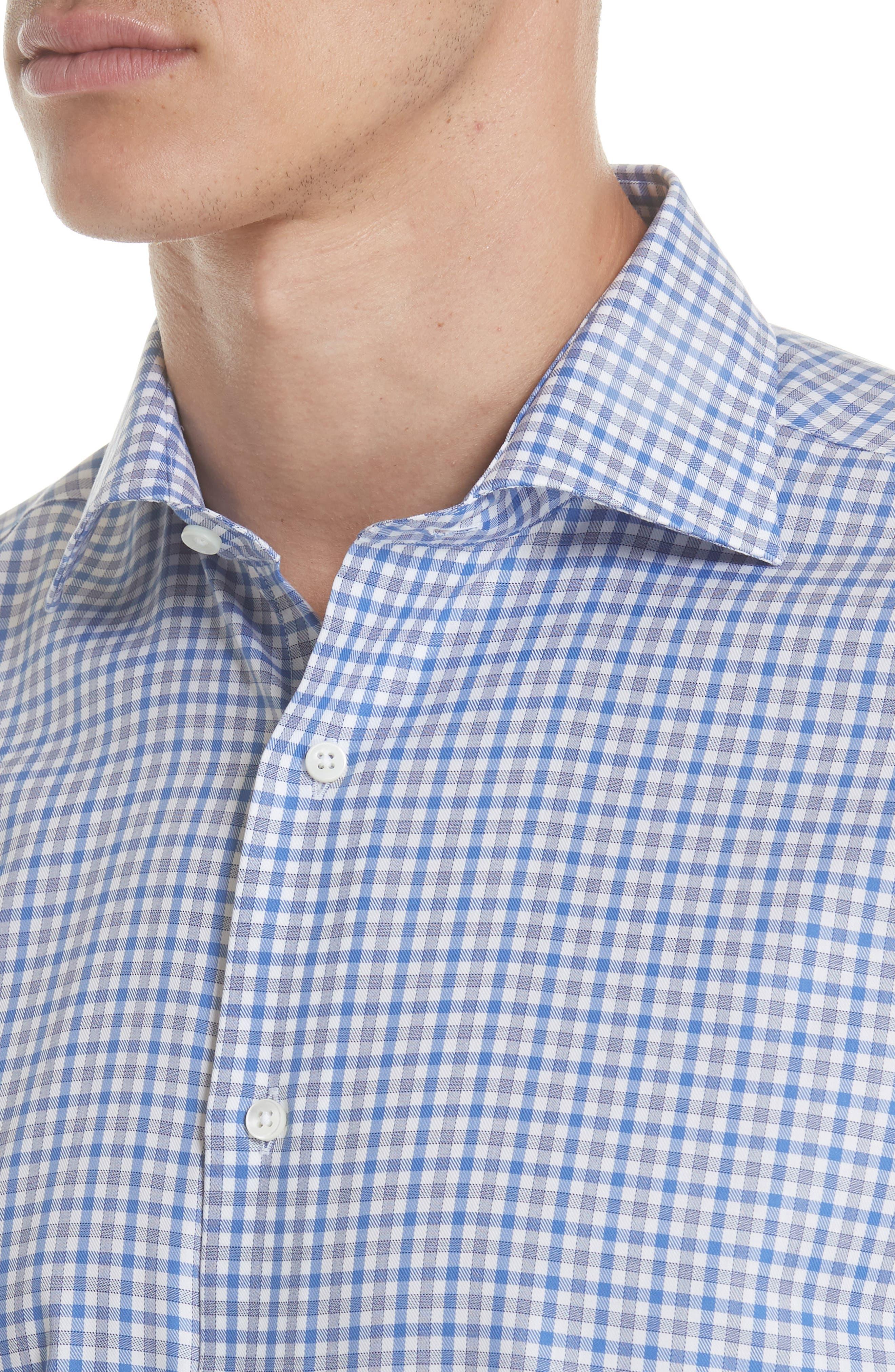 Regular Fit Non-Iron Check Dress Shirt,                             Alternate thumbnail 2, color,                             Med Blue