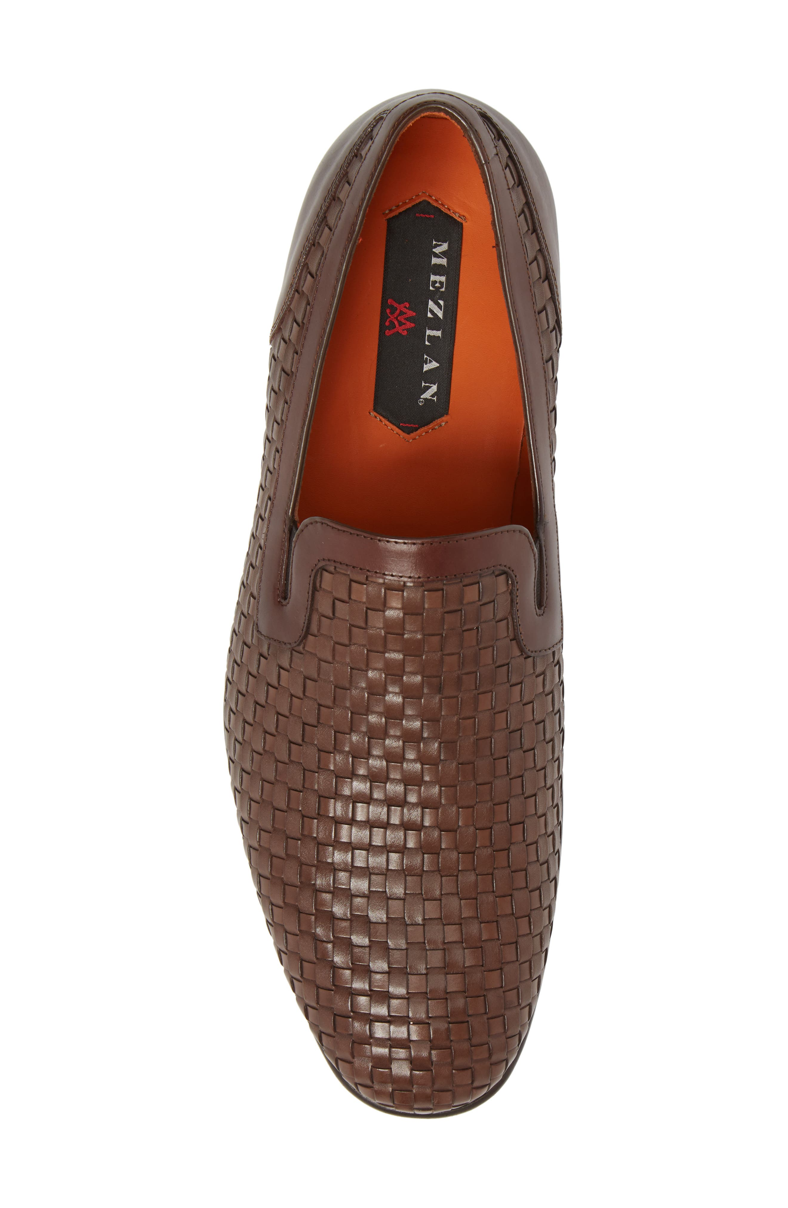 Eliseo Woven Venetian Loafer,                             Alternate thumbnail 5, color,                             Brown Leather
