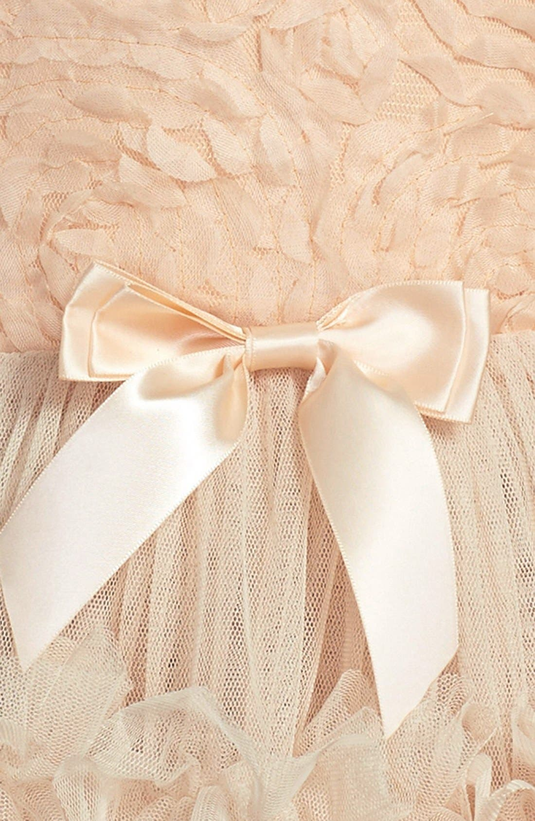 Ribbon Rosette Sleeveless Dress,                             Alternate thumbnail 3, color,                             Ivory