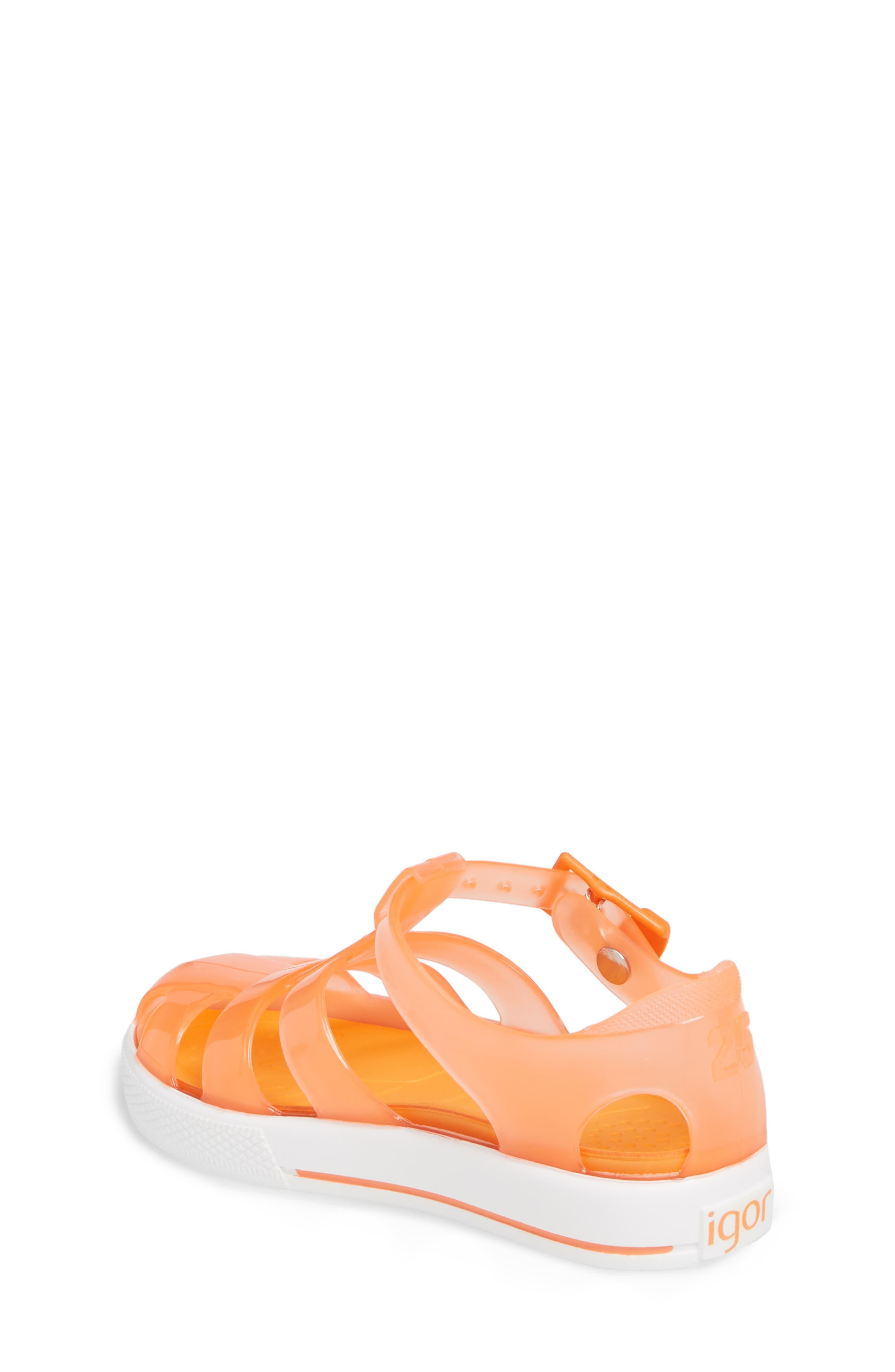 Tenis Fisherman Jelly Sandal,                             Alternate thumbnail 2, color,                             Crystal Neon Orange