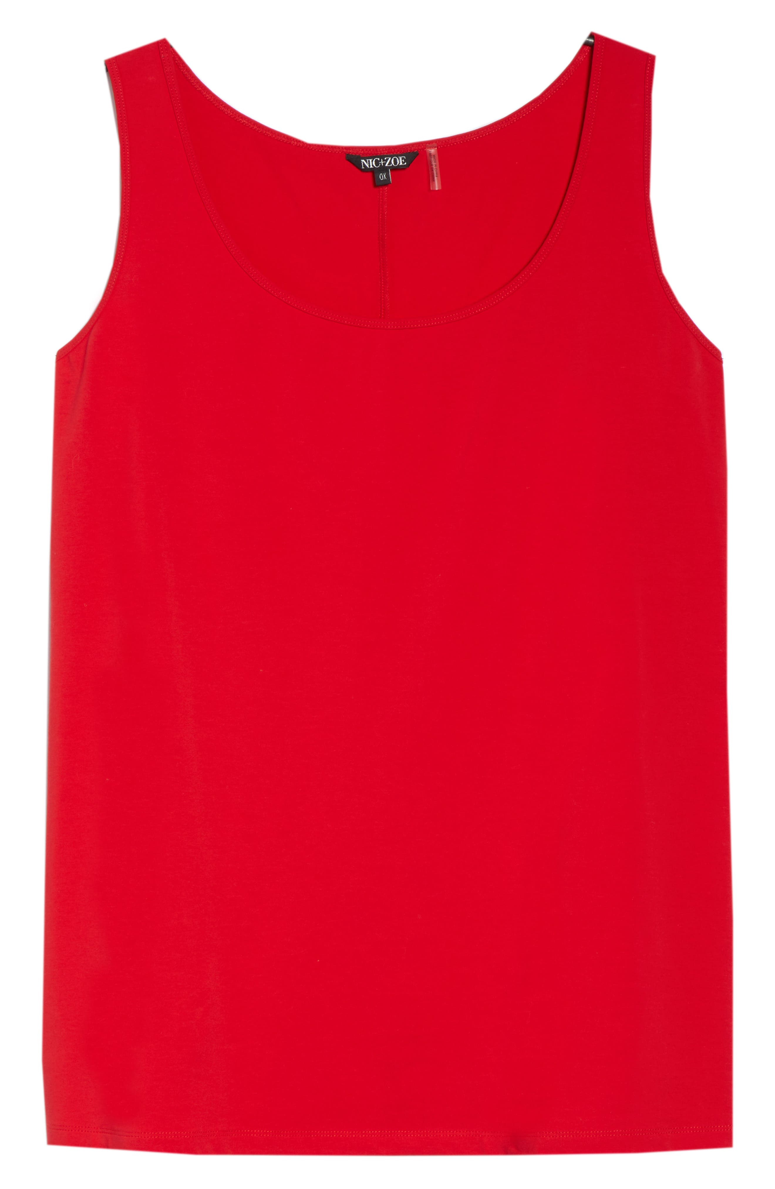 Perfect Scoop Tank,                             Alternate thumbnail 7, color,                             Red Sangria