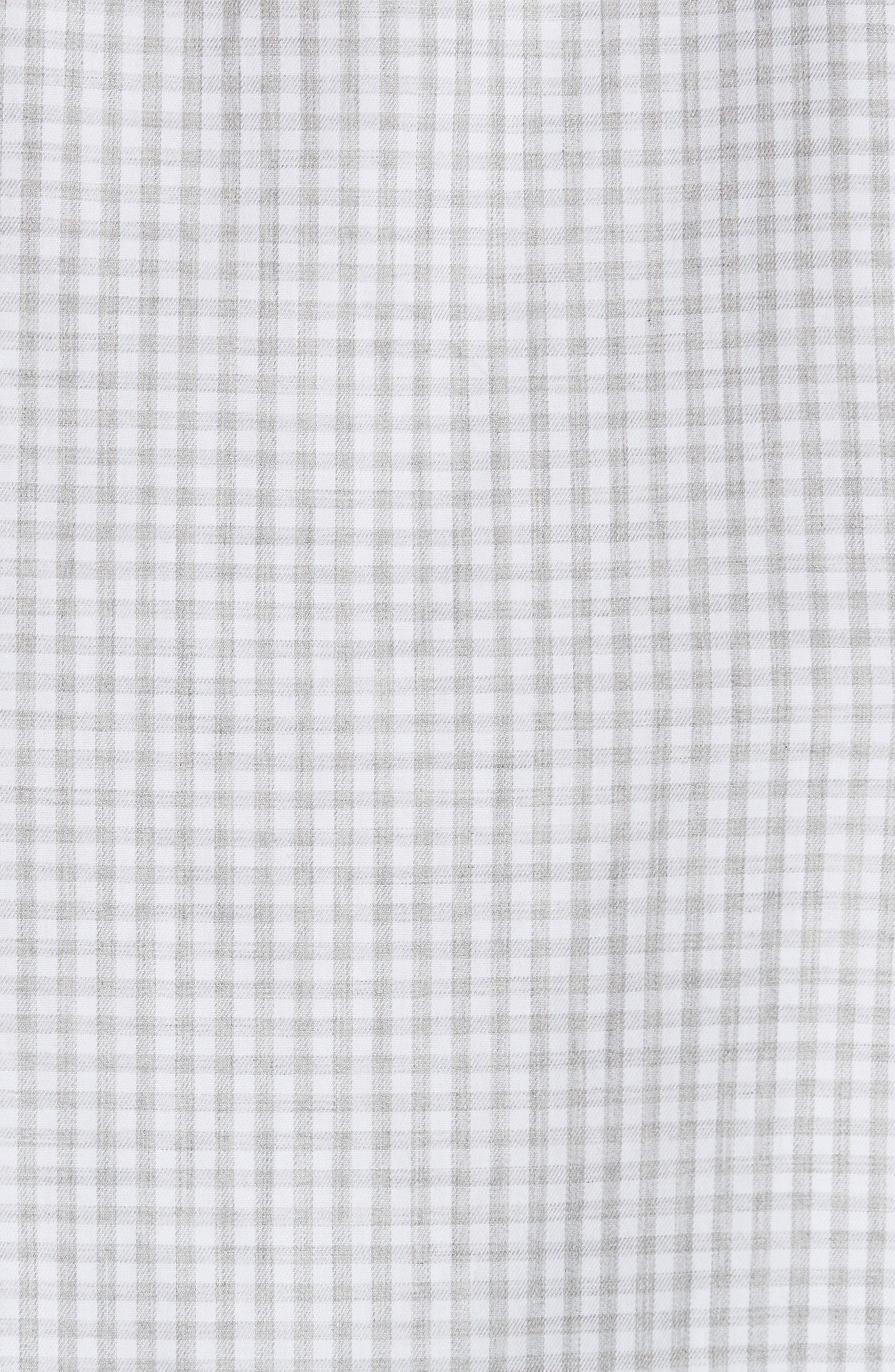 Slim Fit Check Dress Shirt,                             Alternate thumbnail 4, color,                             Light Grey
