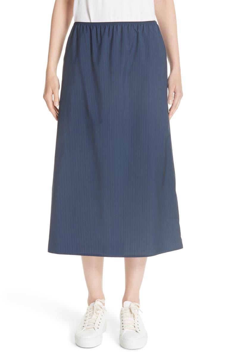 Swivel Pinstripe Skirt