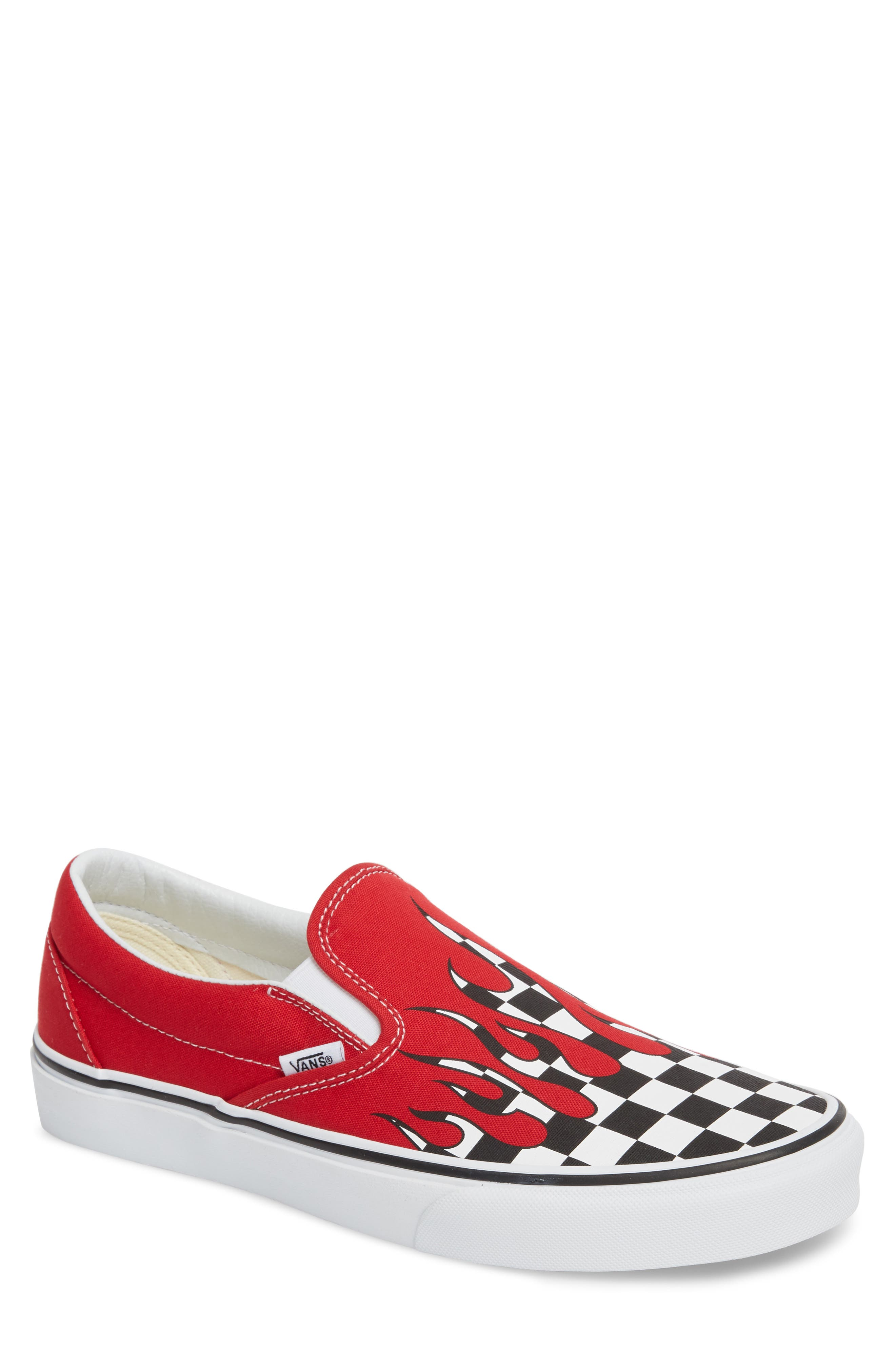 UA Classic Slip-On Sneaker,                         Main,                         color, Racing Red/ White Checker