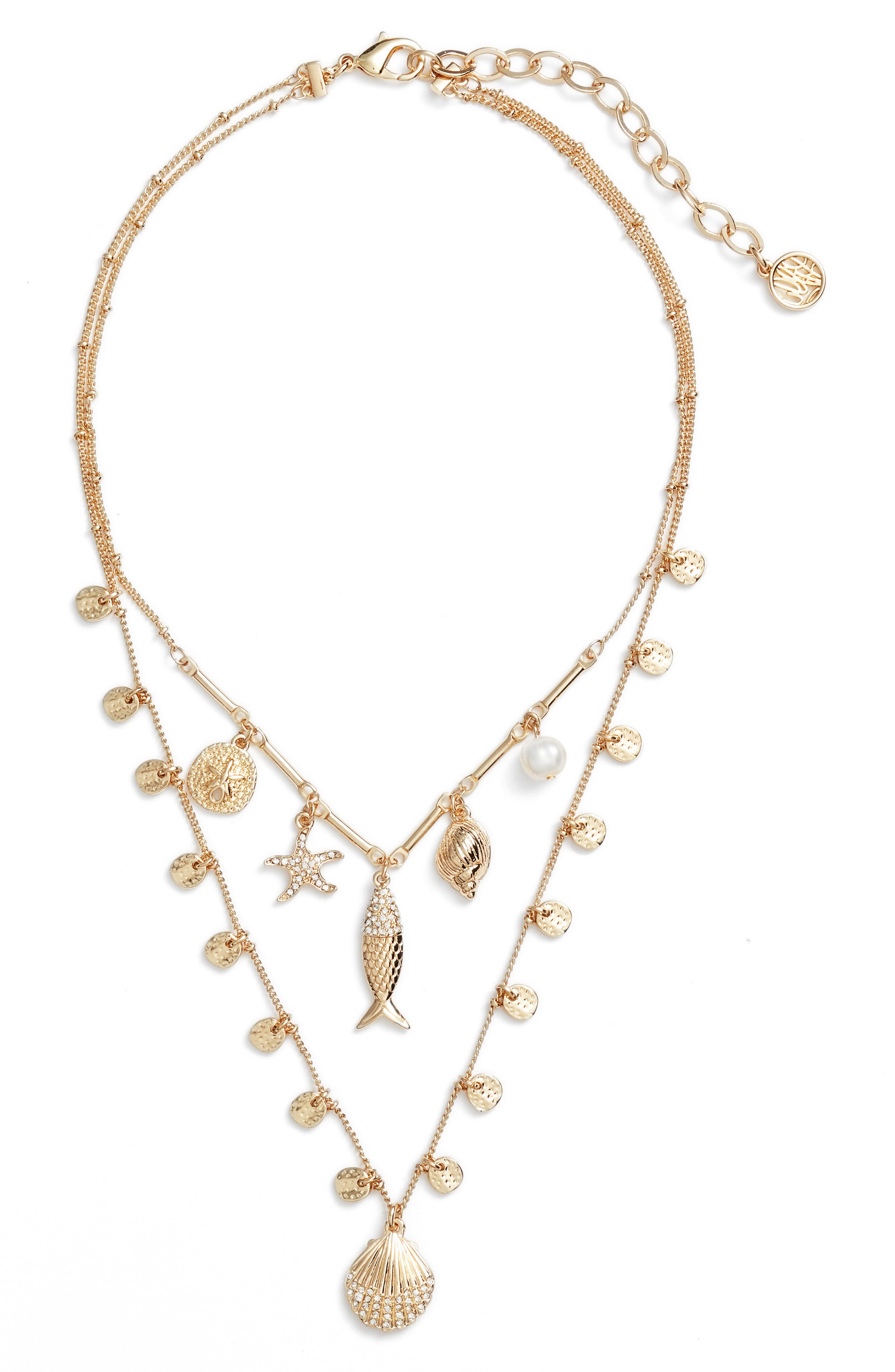 Sofishticated Pendant Necklace,                             Main thumbnail 1, color,                             Gold Metallic