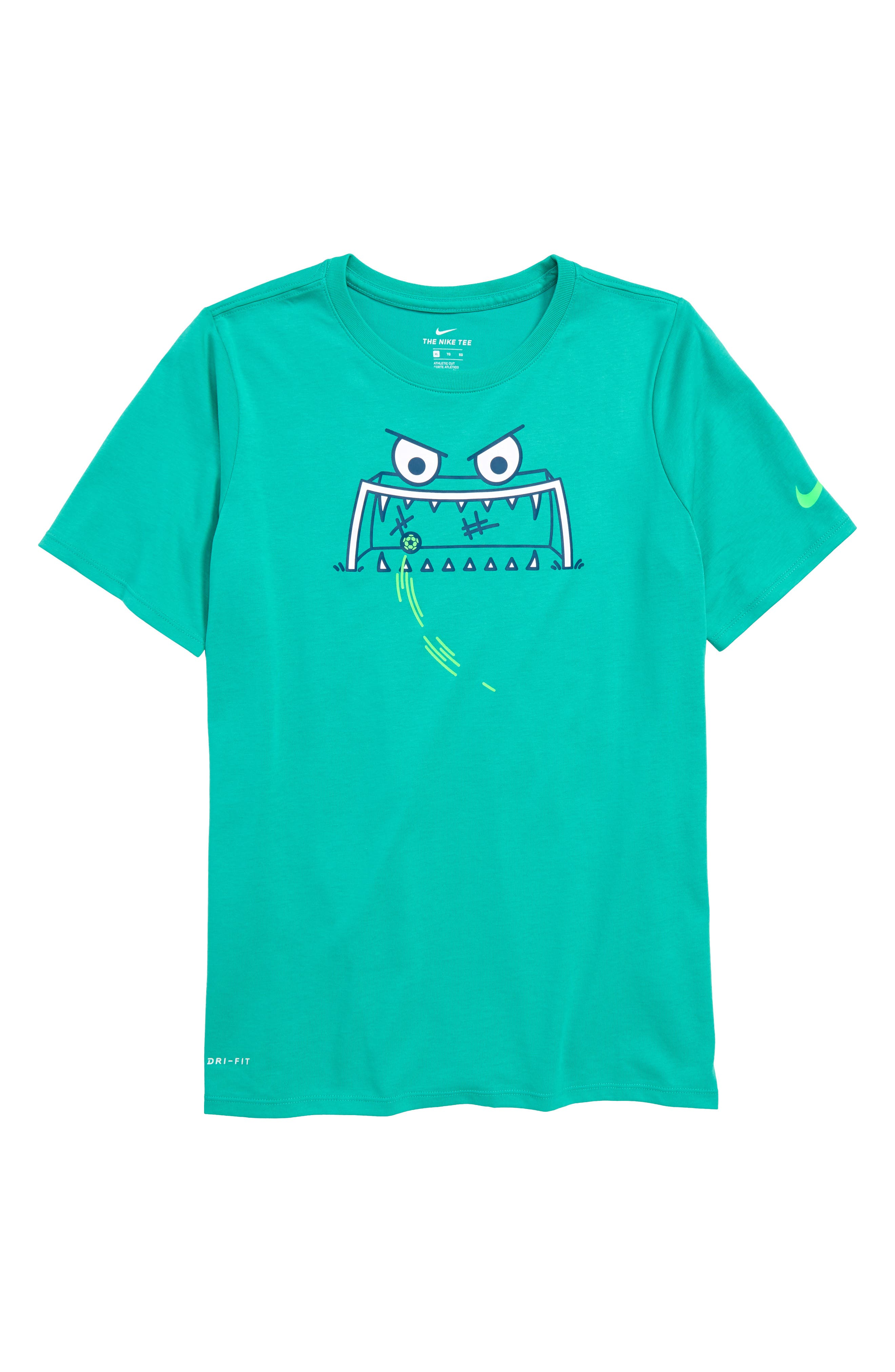 Dry Feed the Goal Graphic T-Shirt,                             Main thumbnail 1, color,                             Kinetic Green