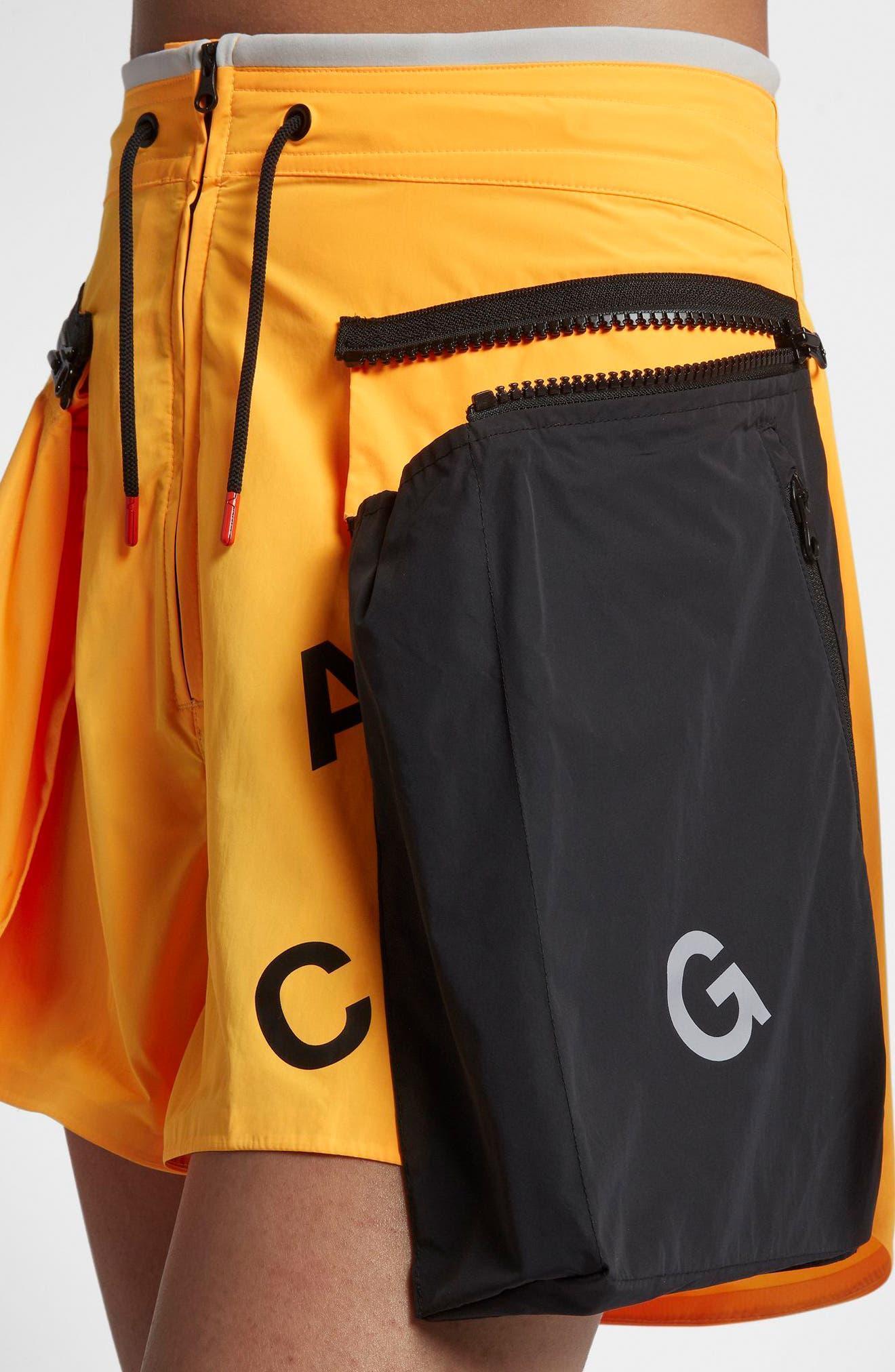 NikeLab ACG Women's Cargo Shorts.,                             Alternate thumbnail 4, color,                             Laser Orange/ Vast Grey