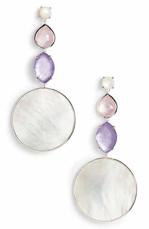 Ippolita Wonderland Long Multi Shape Stone Earrings