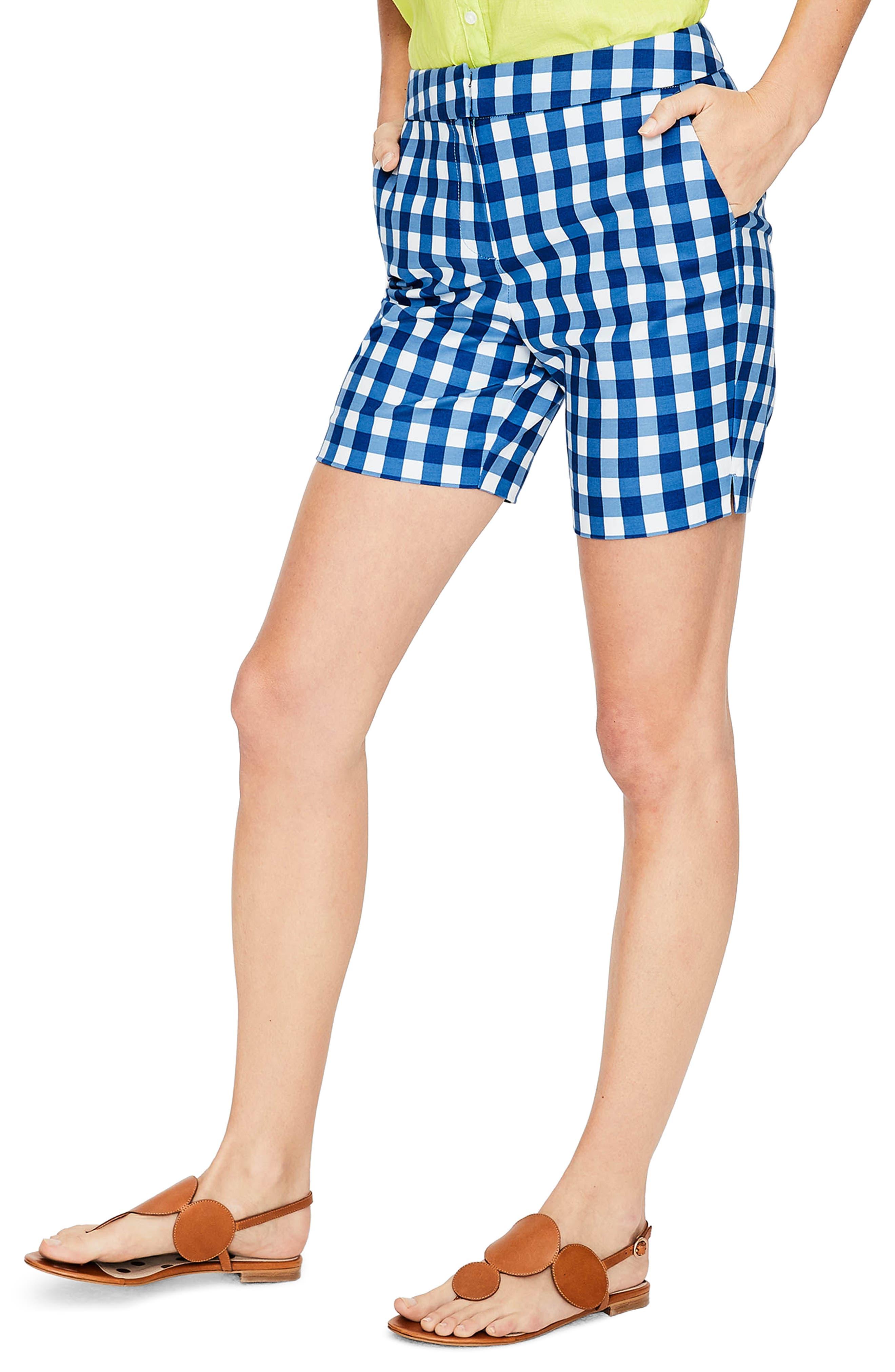 Richmond Check Shorts,                             Main thumbnail 1, color,                             Riviera Blue Gingham