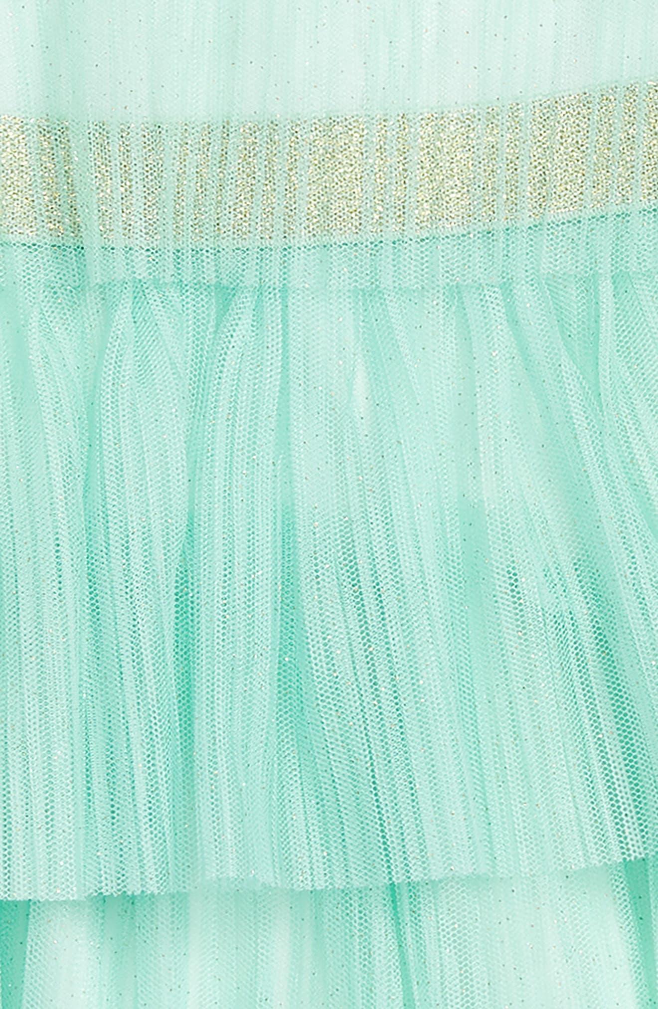 pleated tulle dress,                             Alternate thumbnail 2, color,                             Fresh Mint