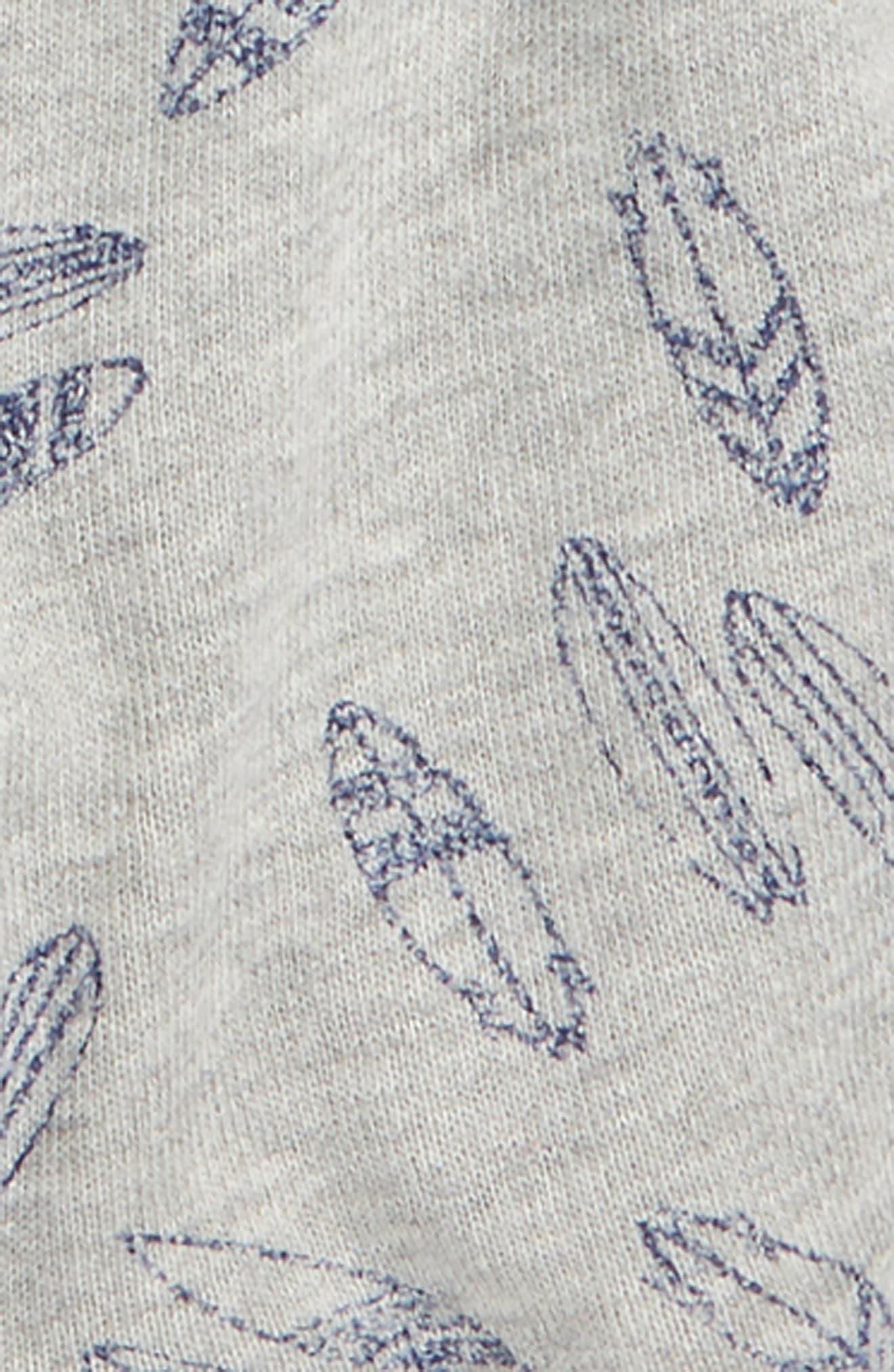 Surfboard T-Shirt & Shorts Set,                             Alternate thumbnail 2, color,                             Indigo Sky