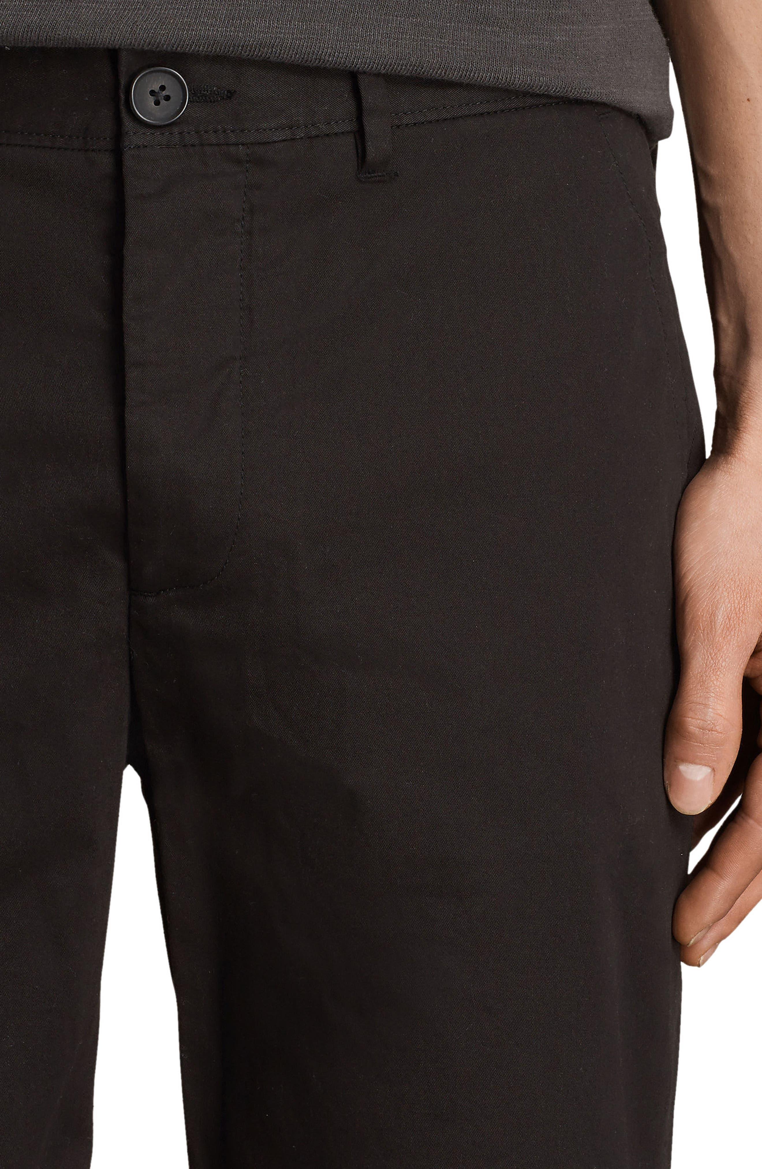 Cobalt Slim Fit Cotton Shorts,                             Alternate thumbnail 4, color,                             Black