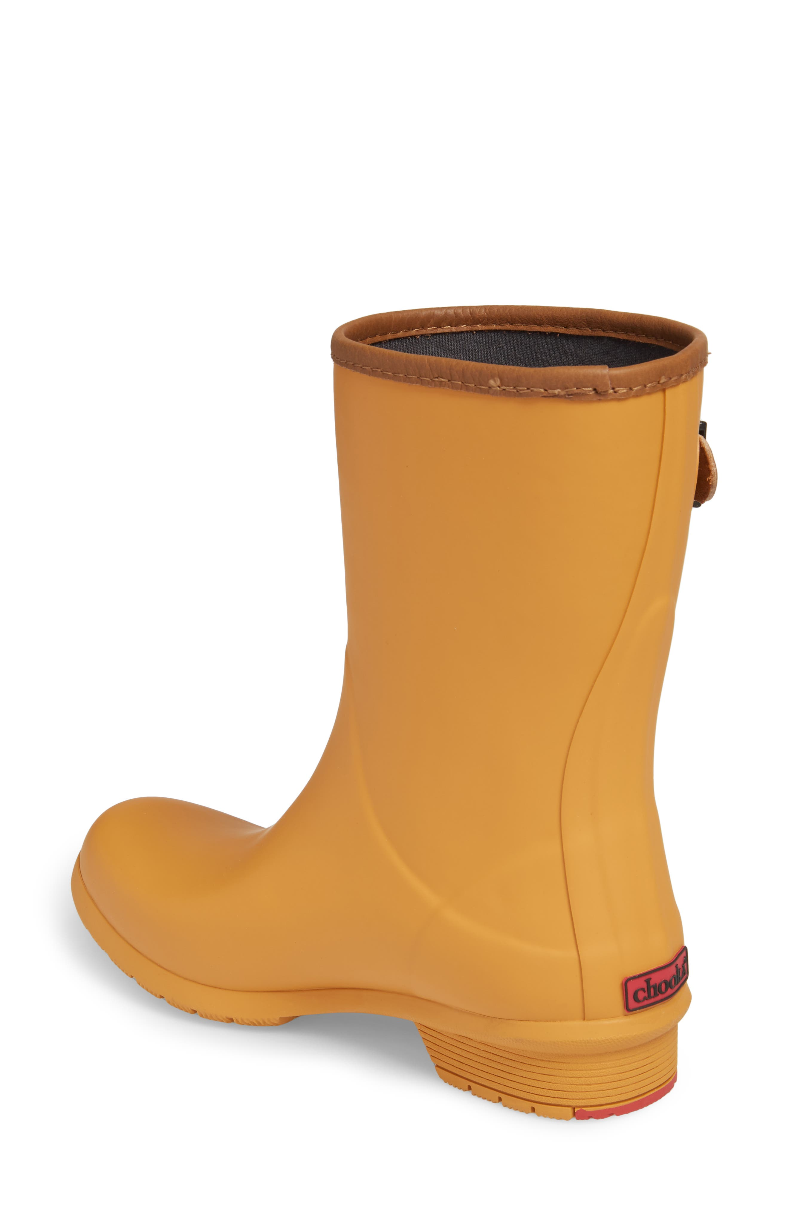 City Solid Mid Height Rain Boot,                             Alternate thumbnail 2, color,                             Saffron