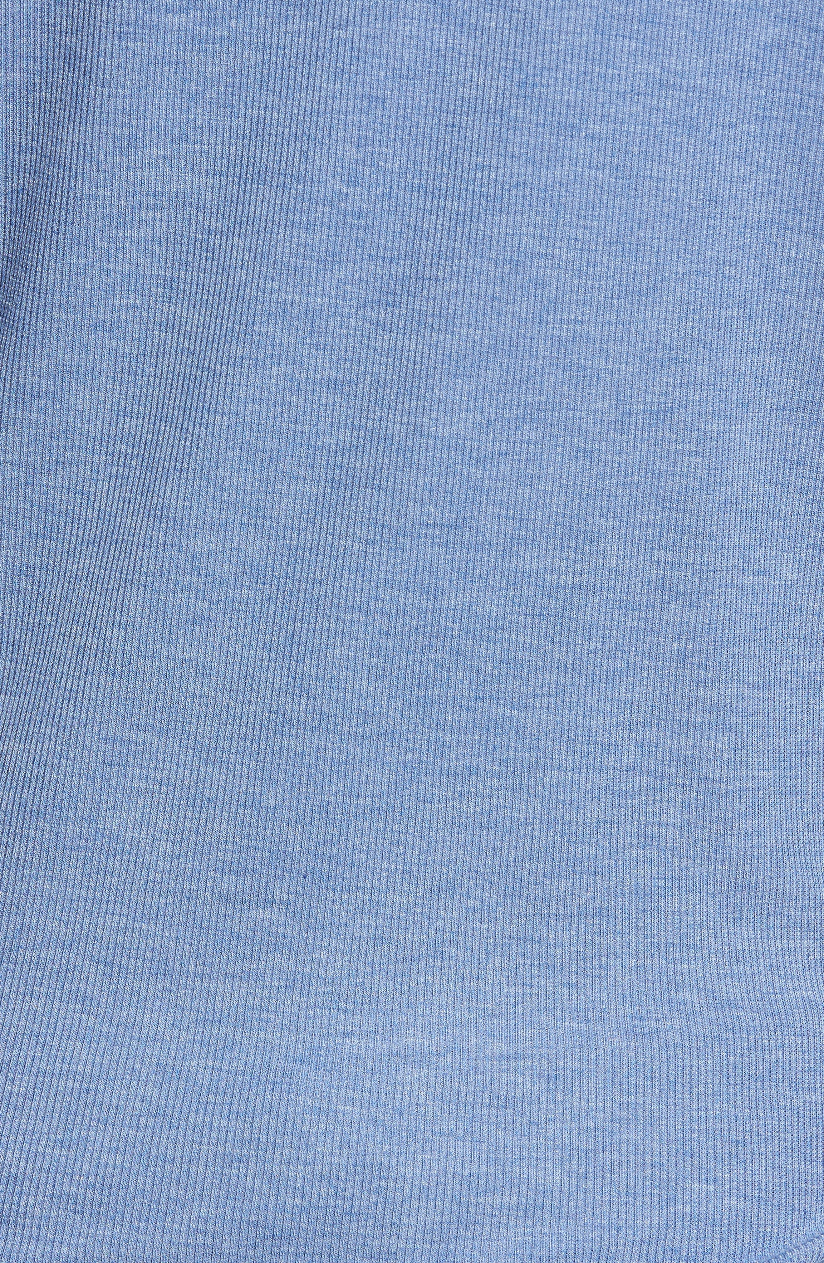 Campbell New York Mets Rib Knit Hoodie,                             Alternate thumbnail 5, color,                             Bleacher Blue