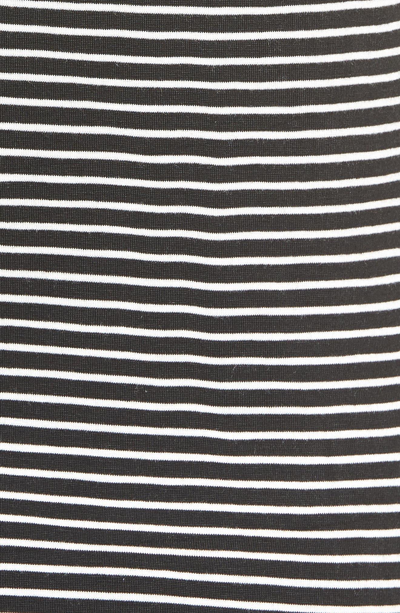 Alta Shadow Stripe Tee,                             Alternate thumbnail 5, color,                             Black/ Ivory
