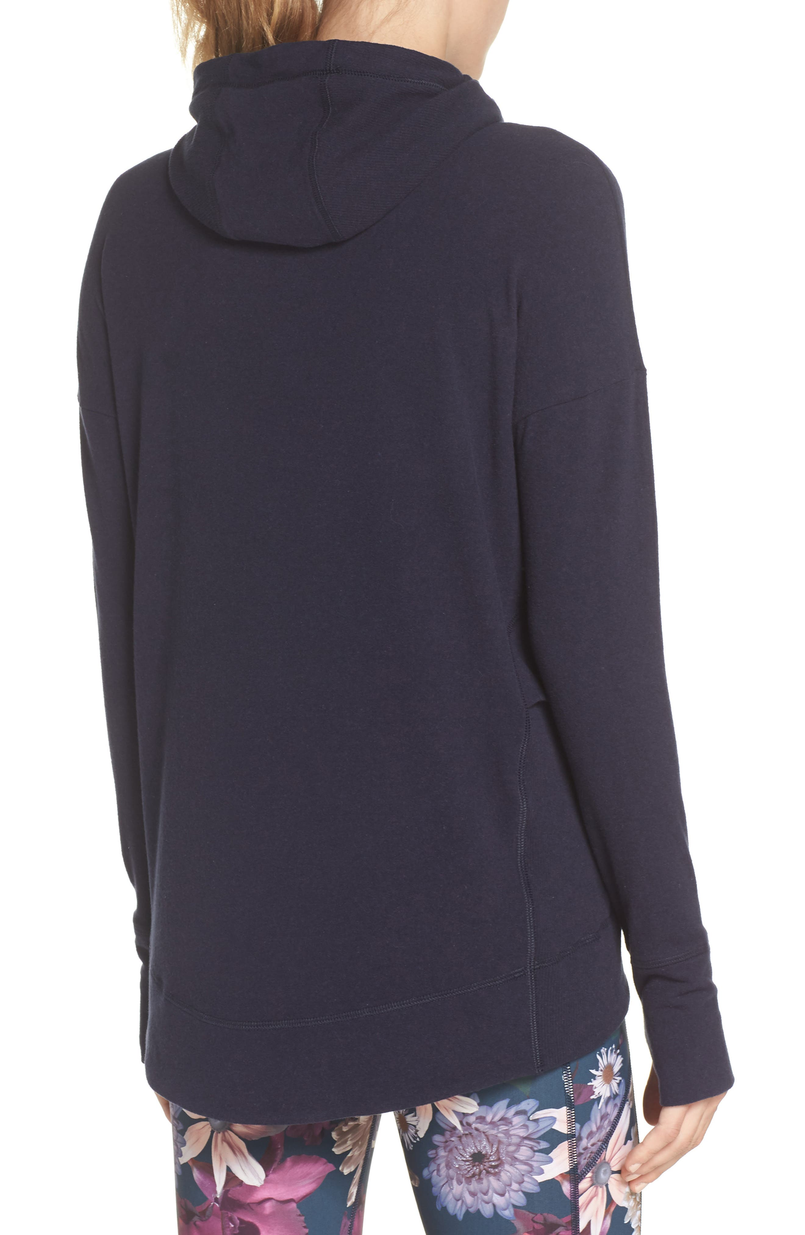 Invigorate Luxe Hoodie,                             Alternate thumbnail 2, color,                             Beetle Blue