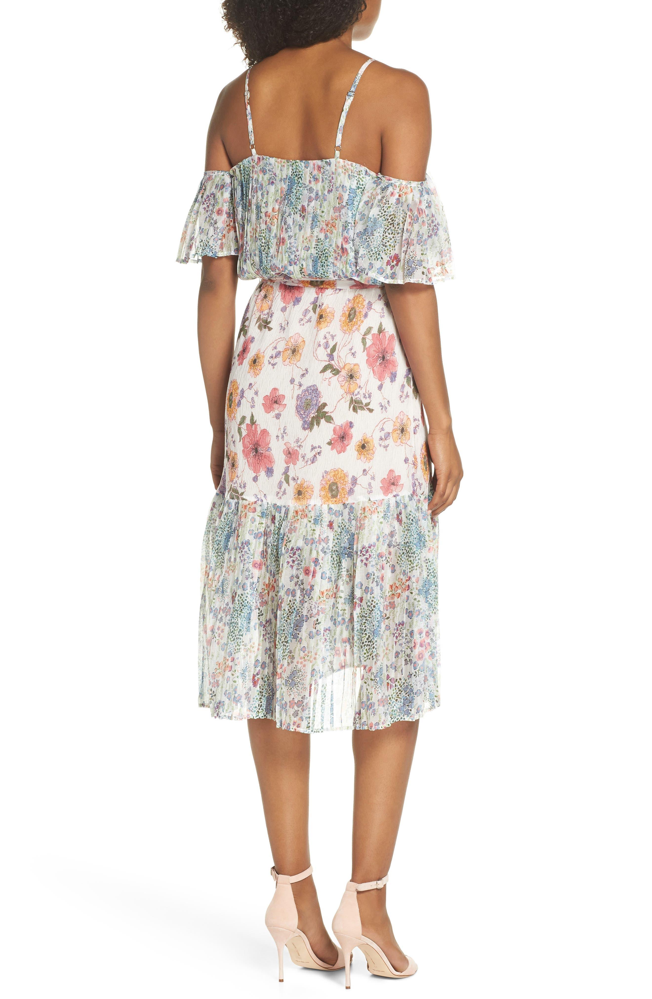 Furiosa Cold Shoulder Dress,                             Alternate thumbnail 3, color,                             Furiosa Multi