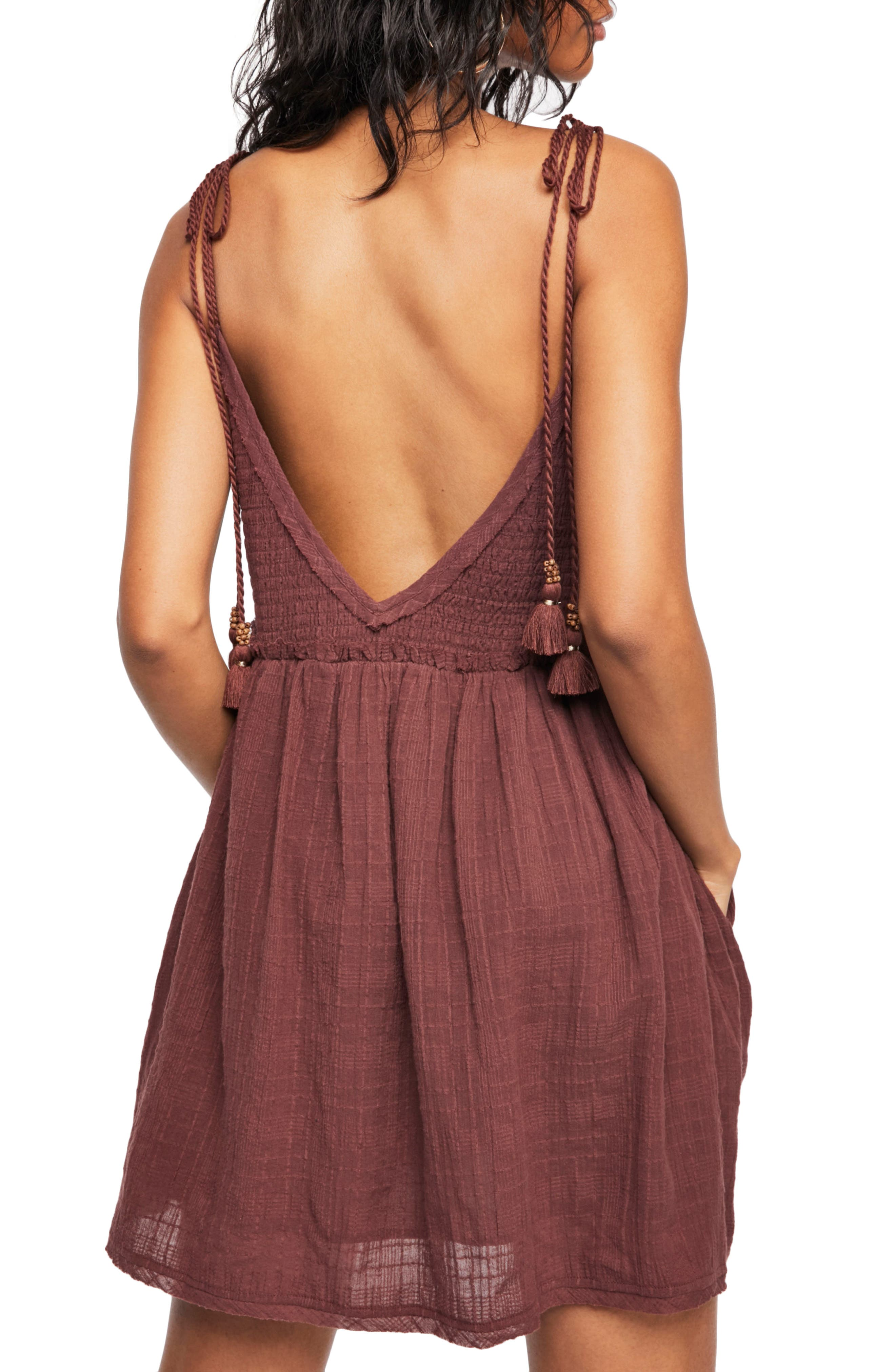 Endless Summer by Free People Sun Drenched Minidress,                             Alternate thumbnail 2, color,                             Dark Purple