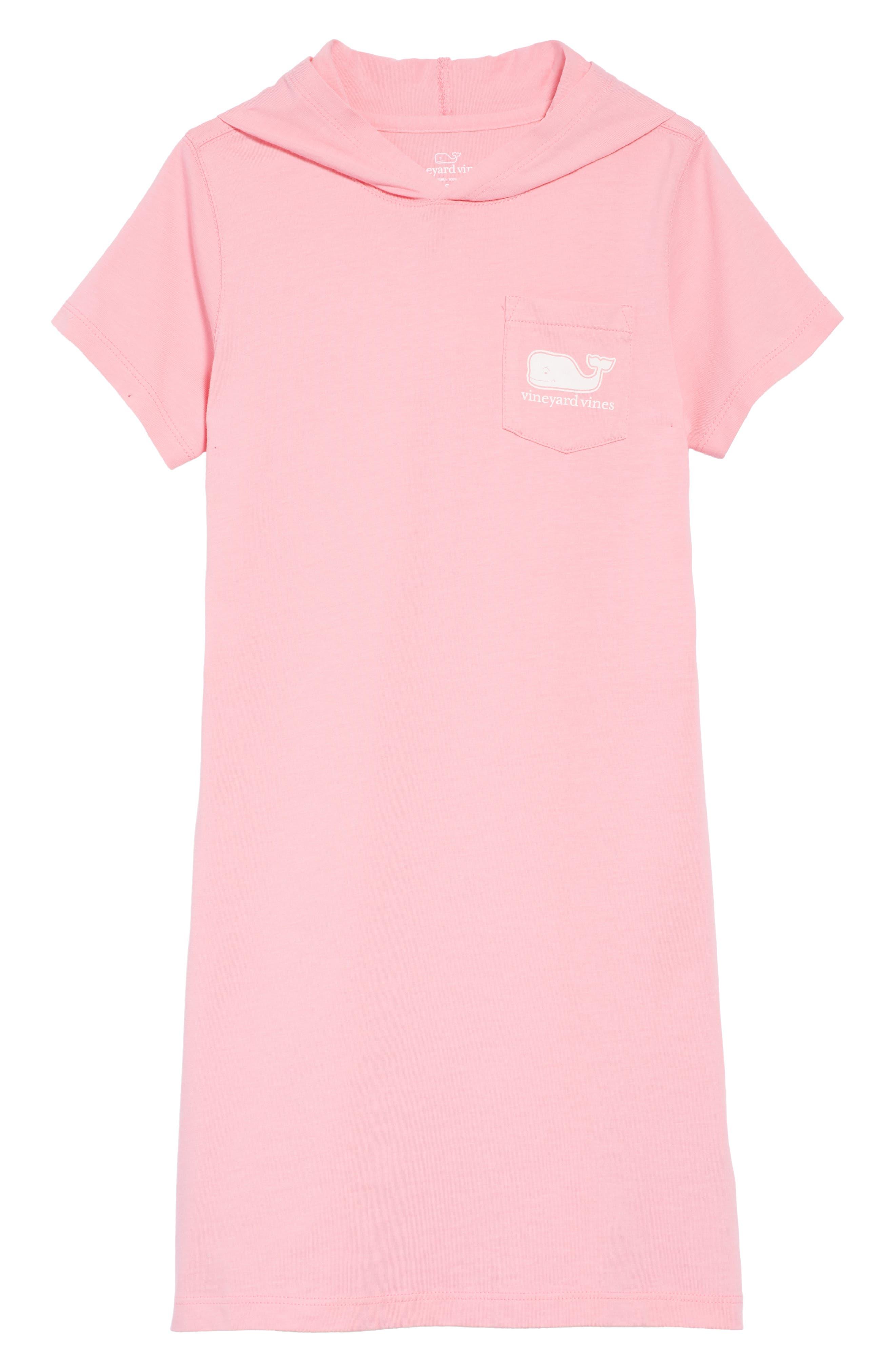 Hooded T-Shirt Dress,                             Main thumbnail 1, color,                             Cupcake