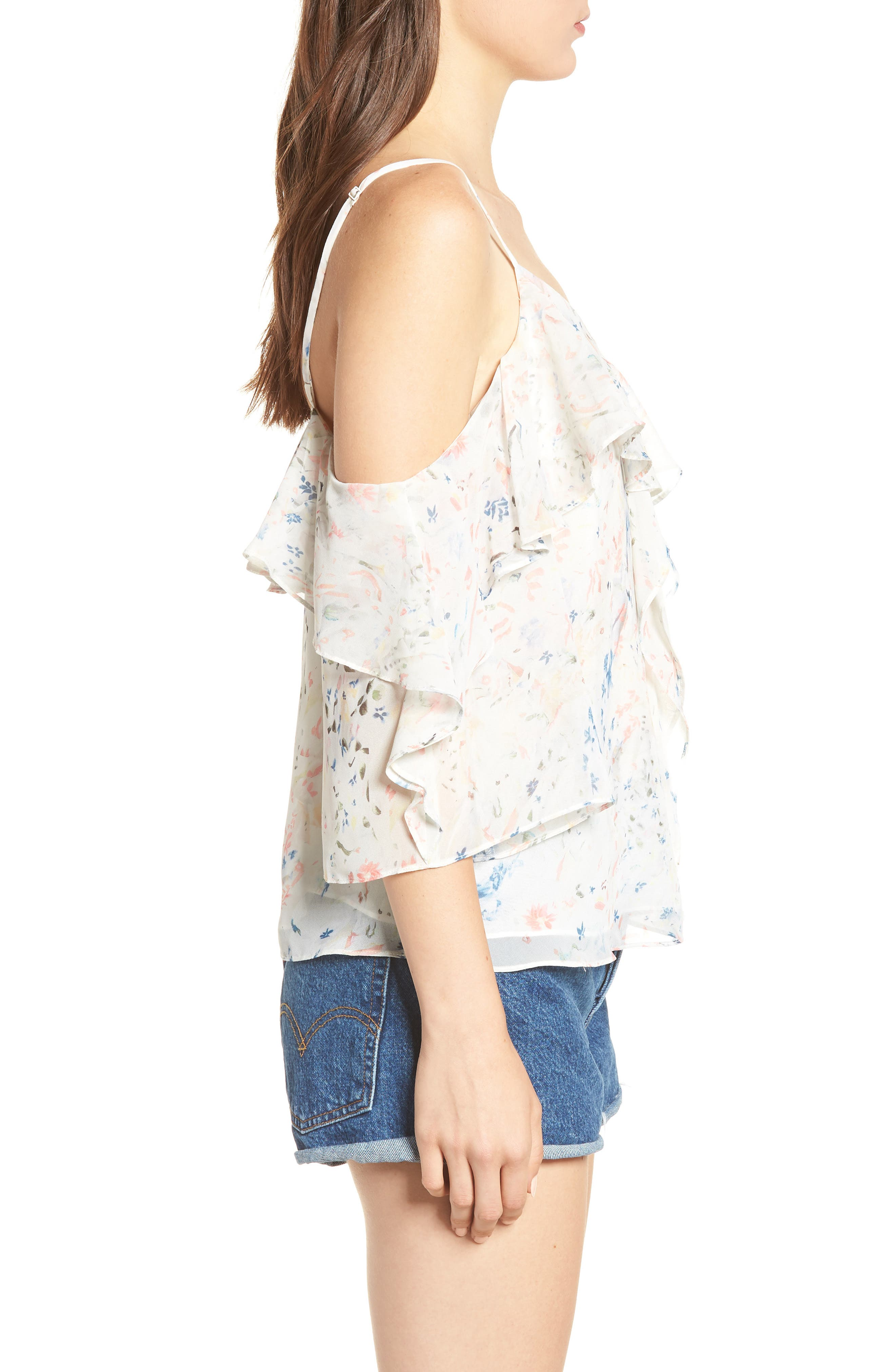 Jasmine Juni Top,                             Alternate thumbnail 3, color,                             Chalk White