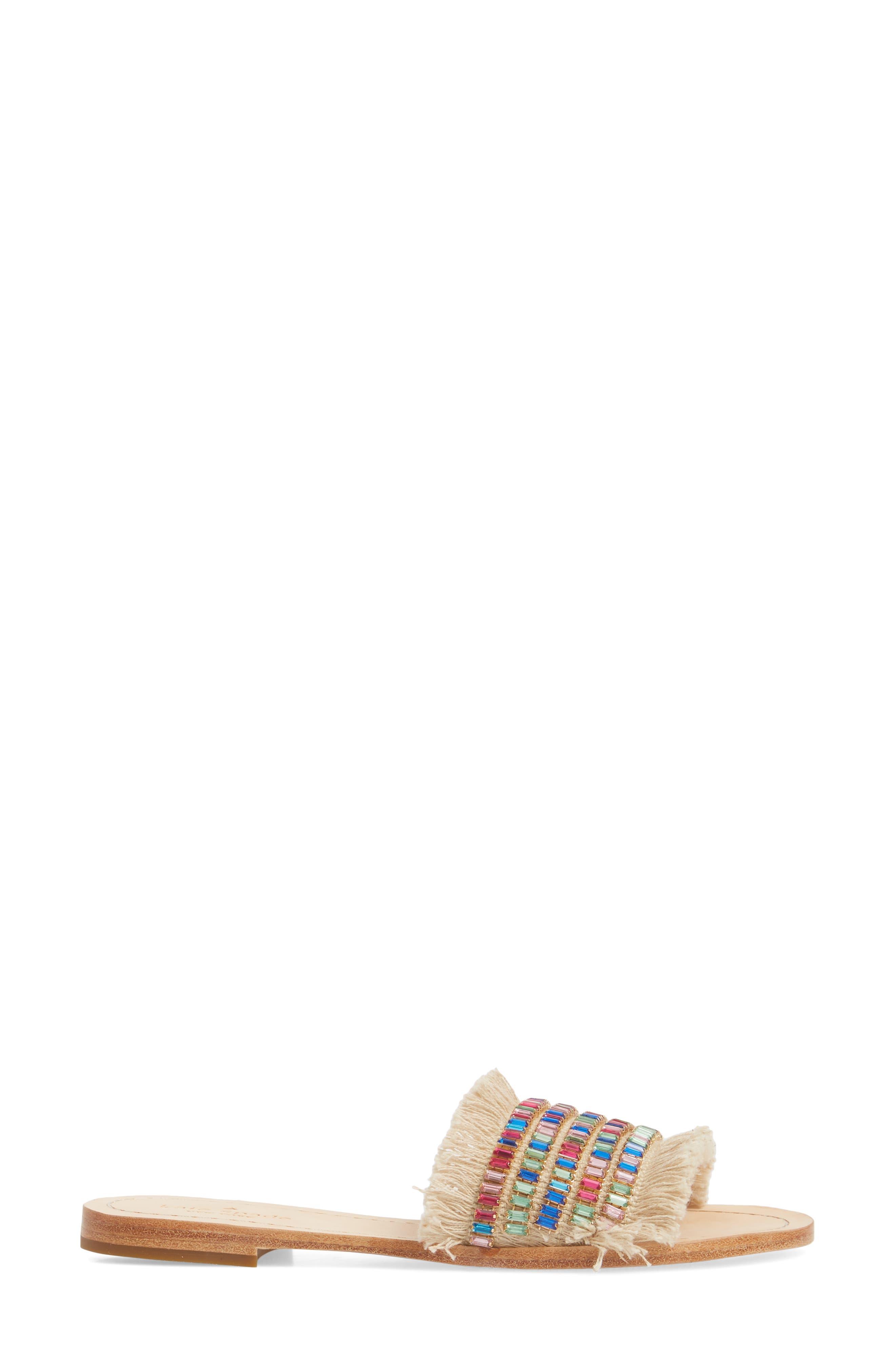 solaina slide sandal,                             Alternate thumbnail 3, color,                             Natural/ Multi