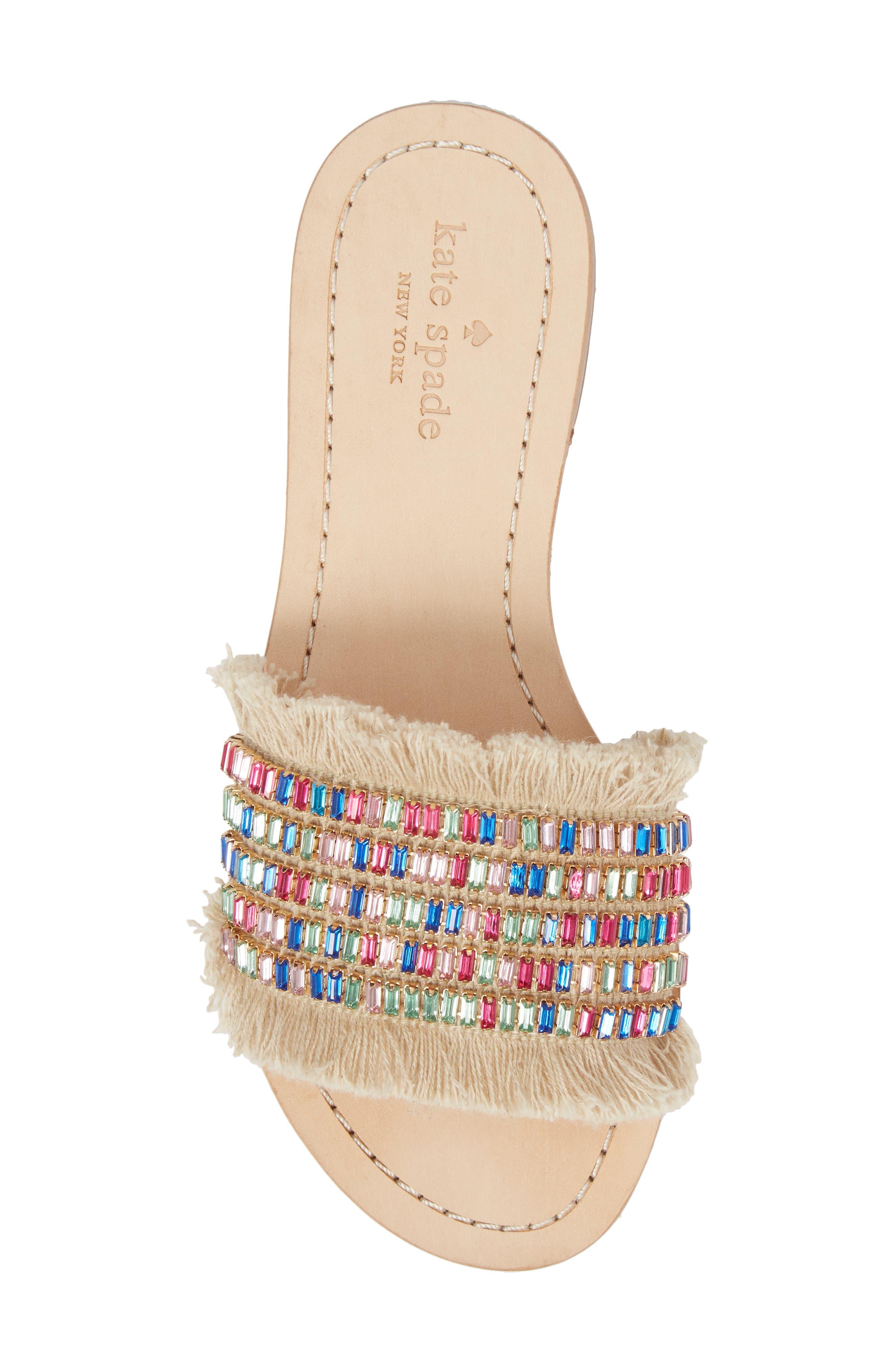 solaina slide sandal,                             Alternate thumbnail 5, color,                             Natural/ Multi
