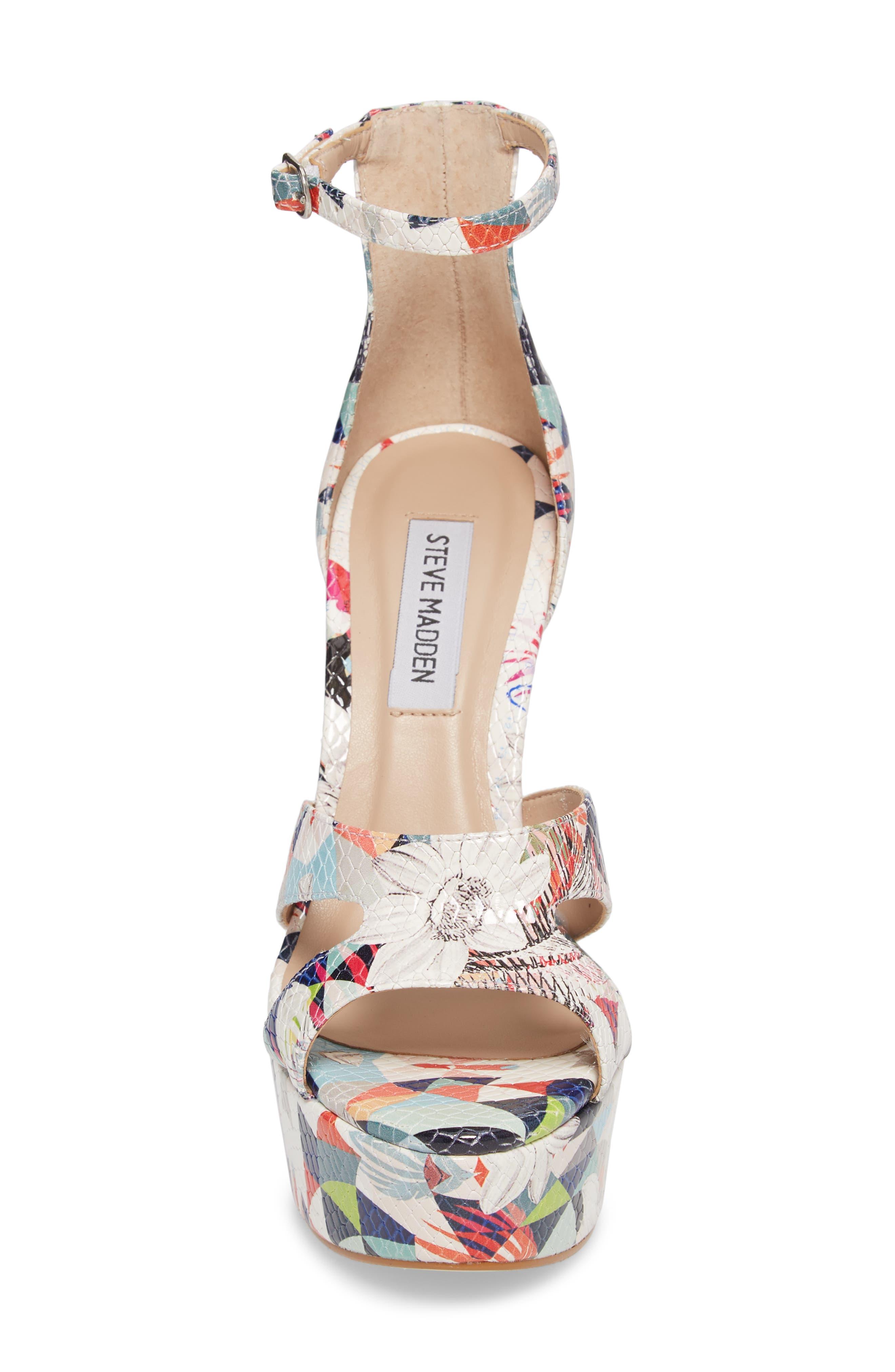 Janelle Platform Sandal,                             Alternate thumbnail 4, color,                             Bright Multi