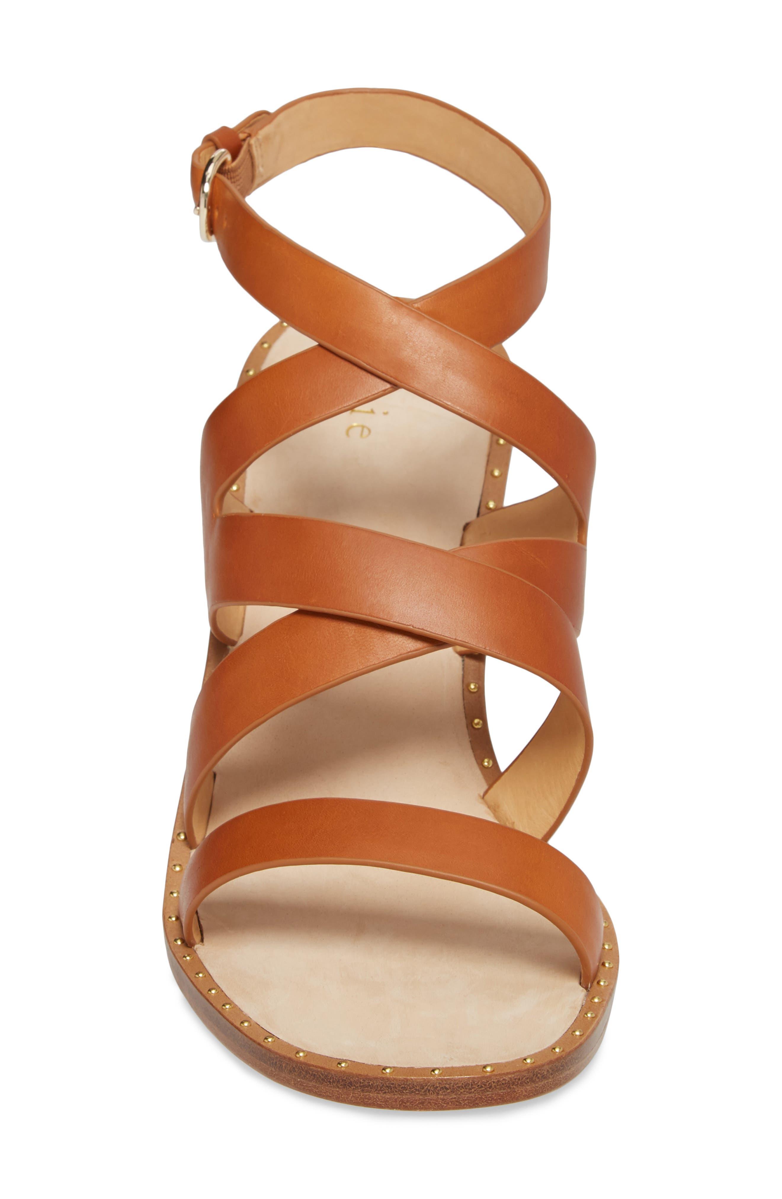 Onfer Studded Strappy Sandal,                             Alternate thumbnail 4, color,                             Tan