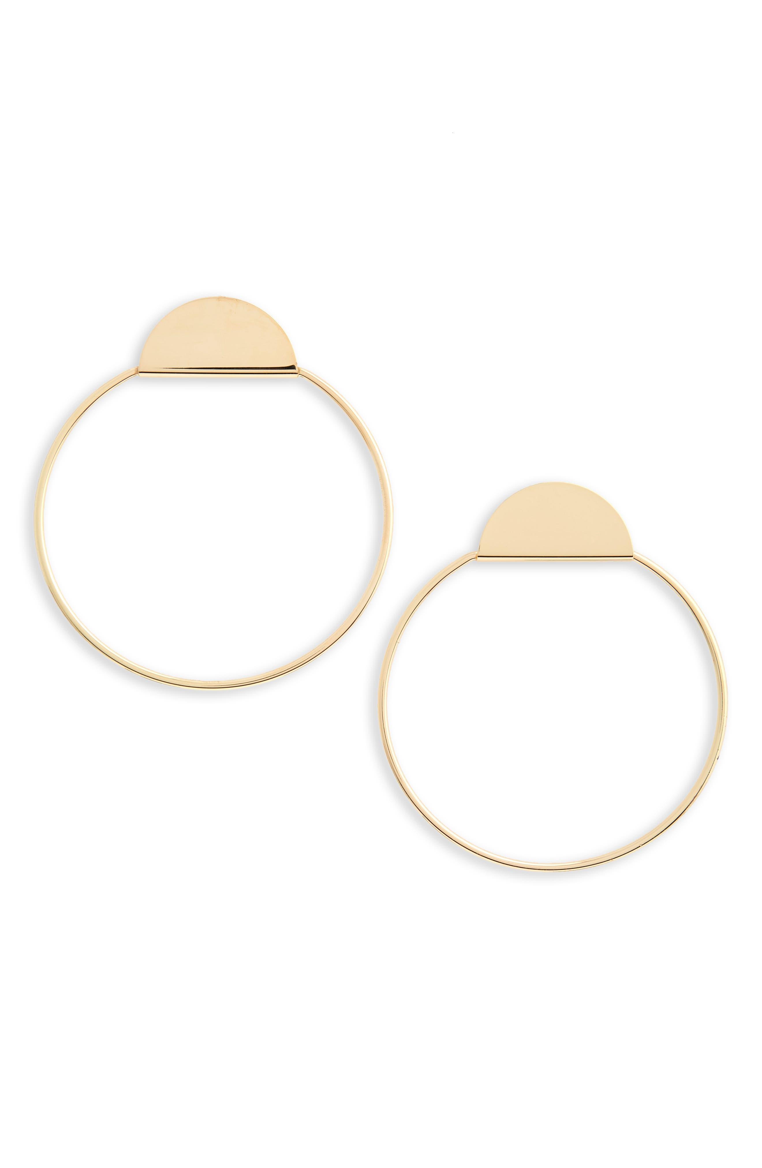Half-Circle & Hoop Earrings,                             Main thumbnail 1, color,                             Gold
