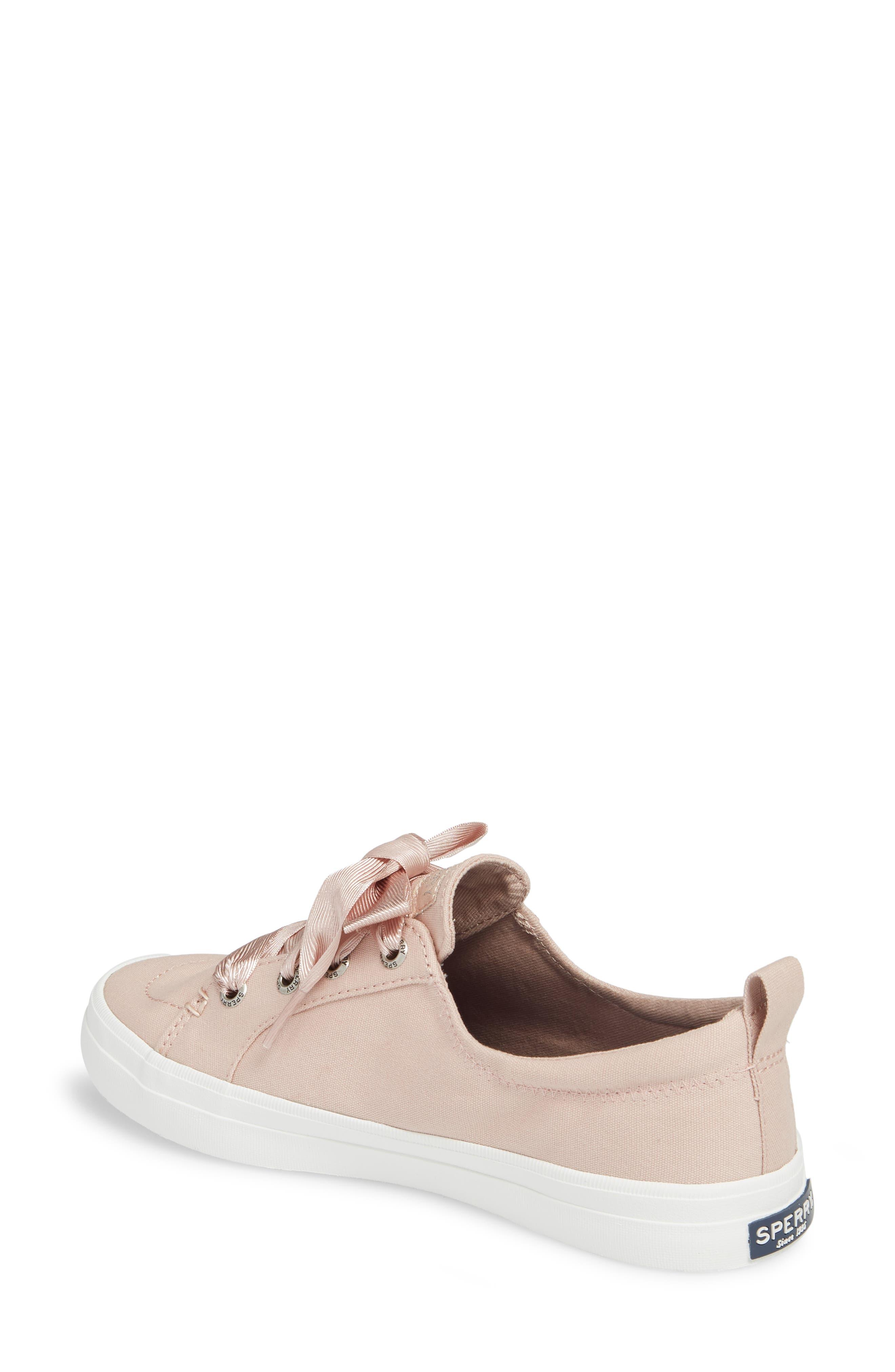 Crest Vibe Satin Lace Sneaker,                             Alternate thumbnail 2, color,                             Rose Dust Canvas