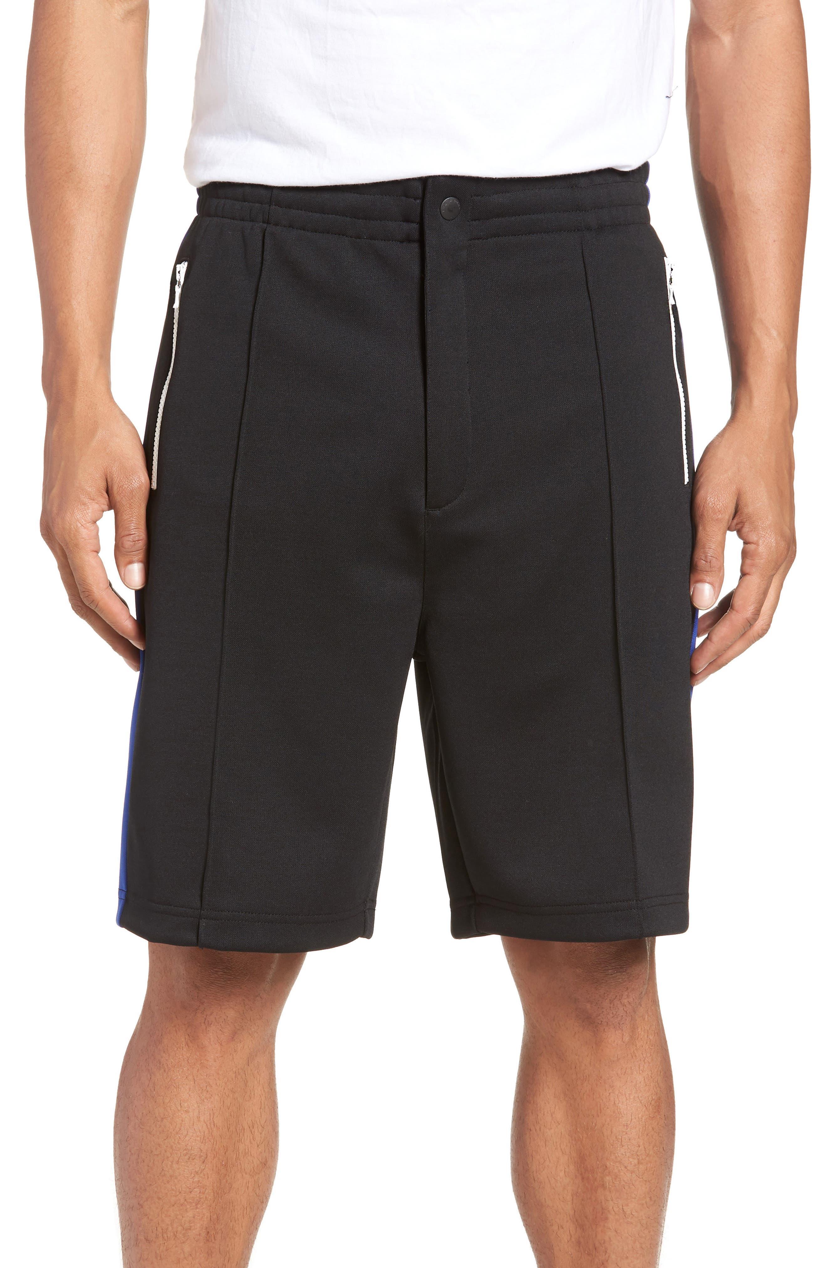 Stripe Shorts,                             Main thumbnail 1, color,                             Blue/ White/ Black