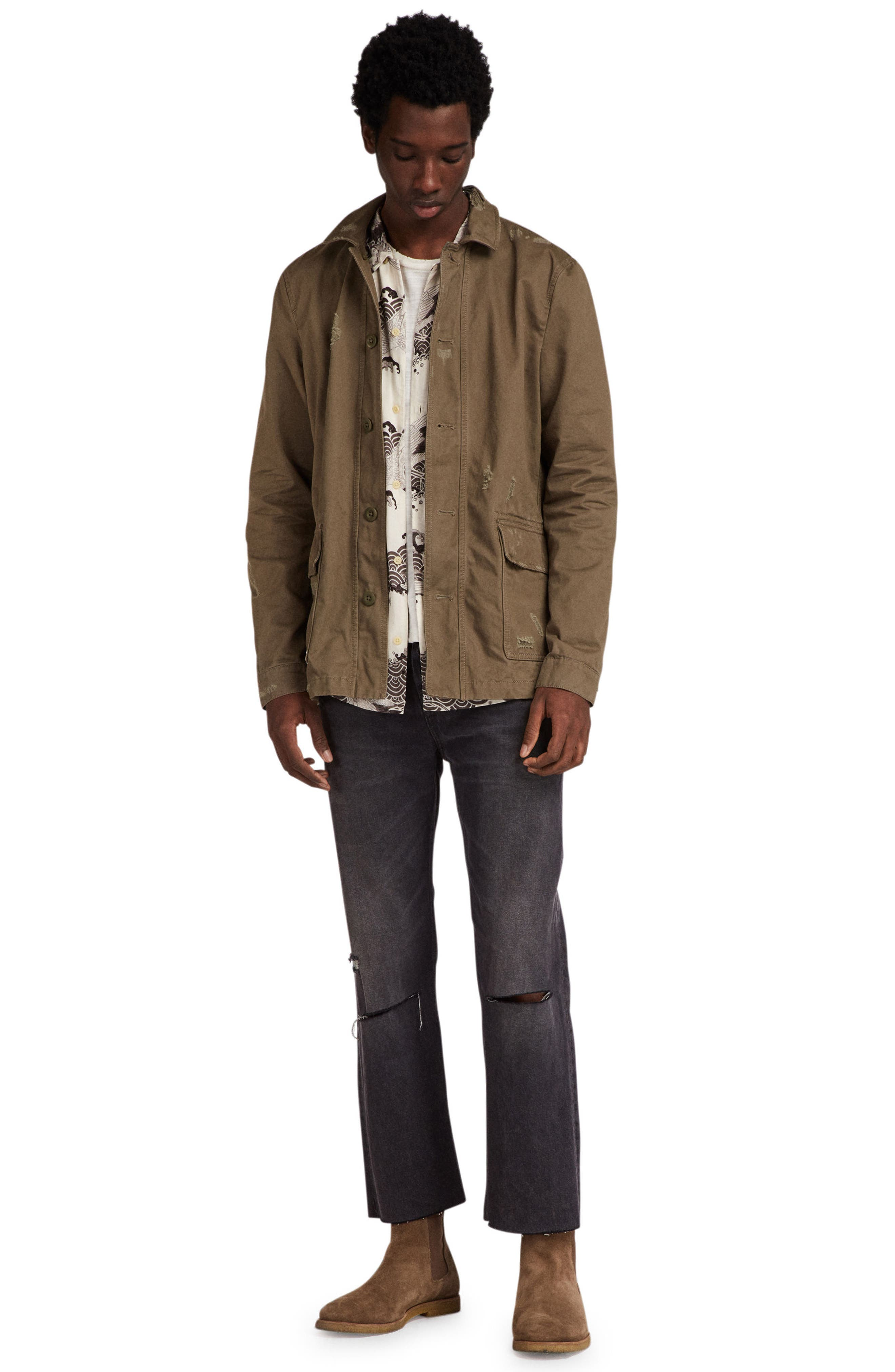 Sasaki Shirt Jacket,                             Alternate thumbnail 4, color,                             Khaki Green